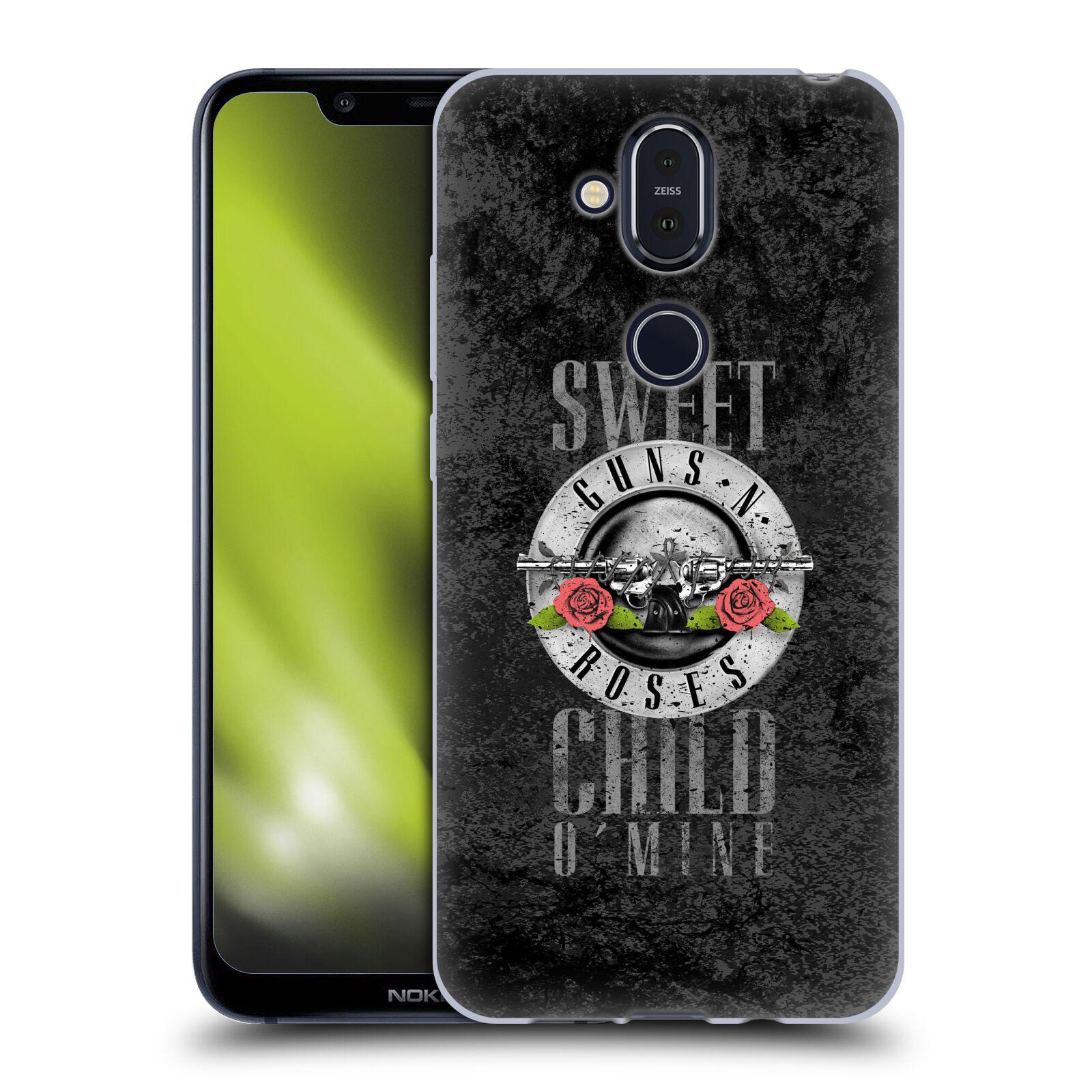 Silikonové pouzdro na mobil Nokia 8.1 - Head Case - Guns N' Roses - Sweet Child