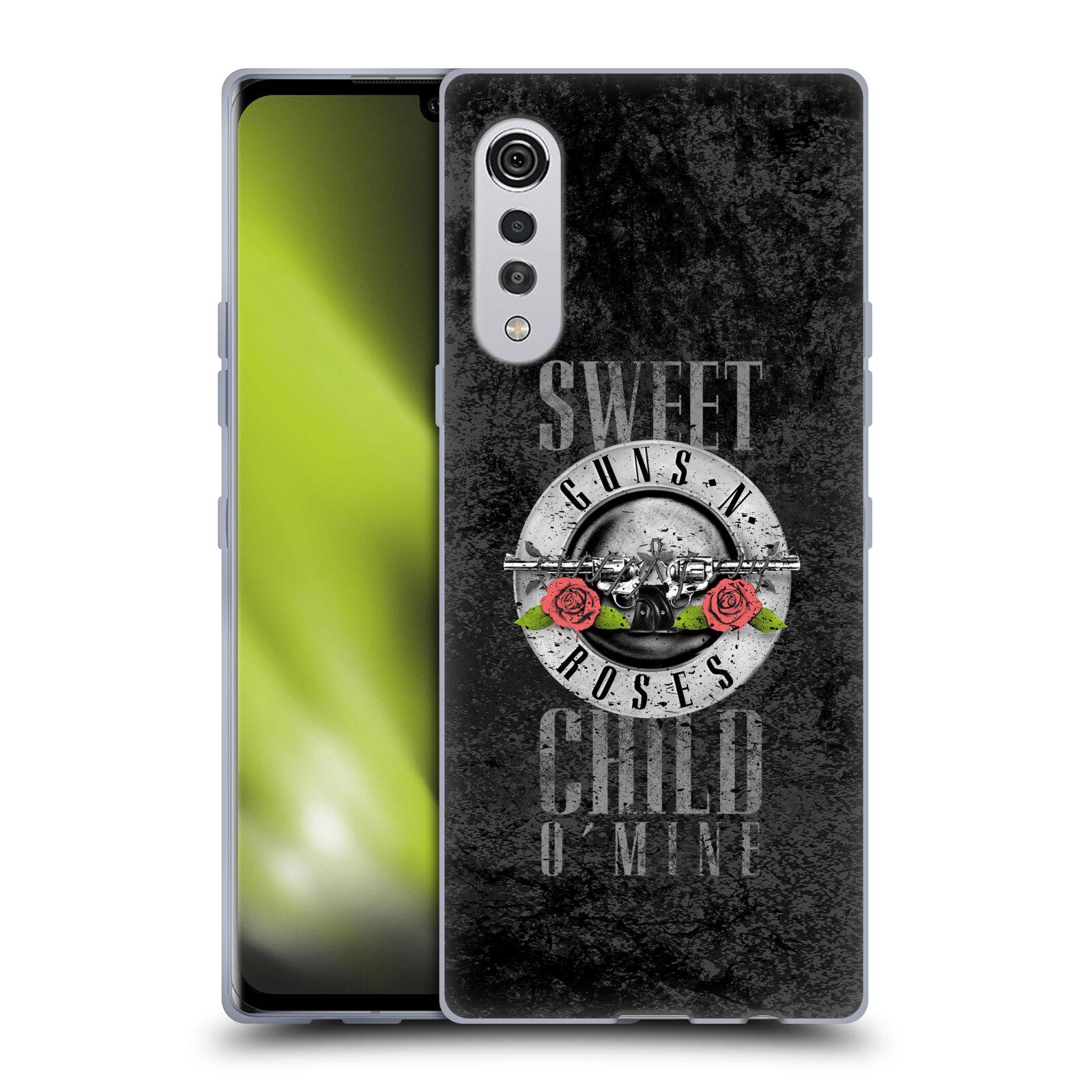 Silikonové pouzdro na mobil LG Velvet - Head Case - Guns N' Roses - Sweet Child