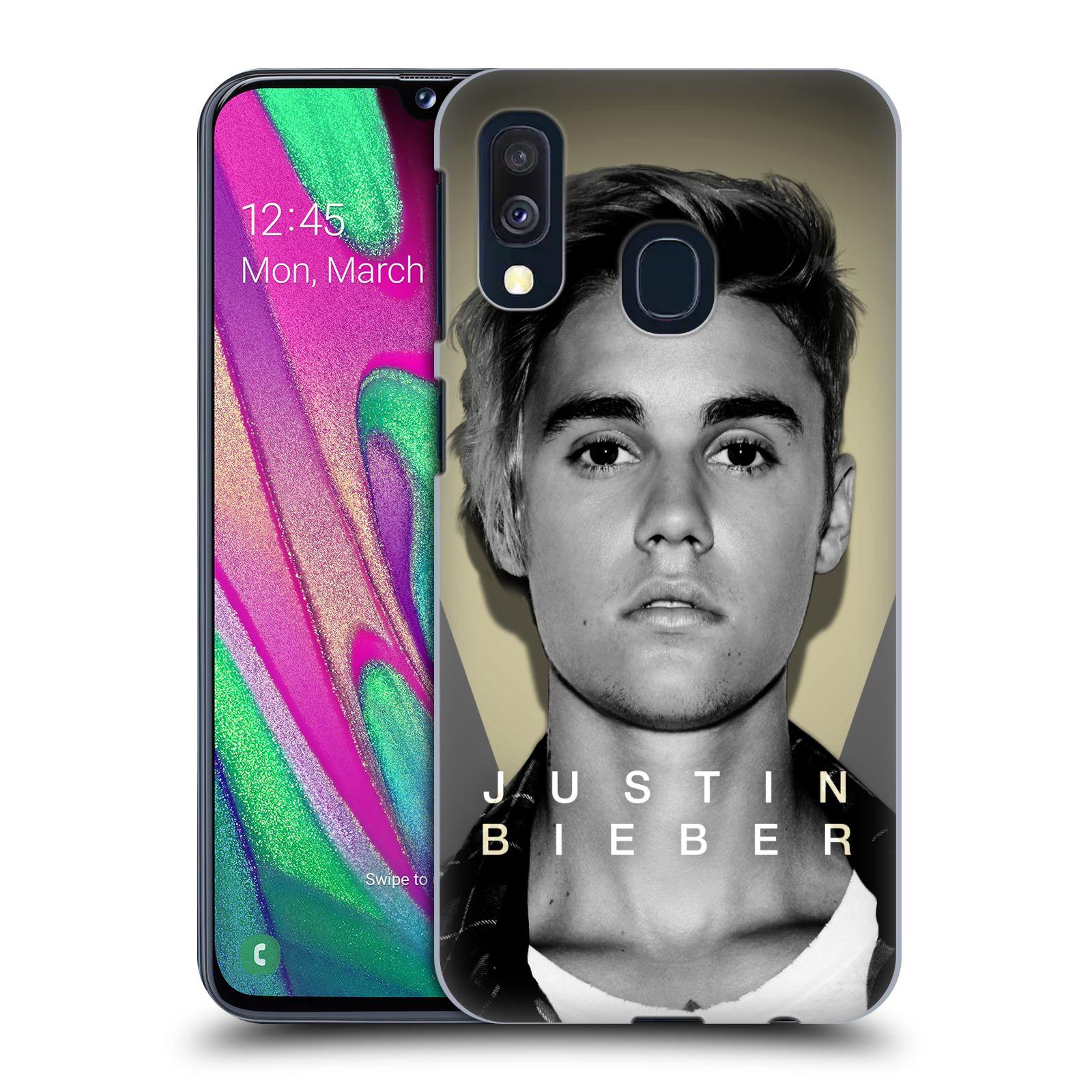 Plastové pouzdro na mobil Samsung Galaxy A40 - Head Case - Justin Bieber Official - Head Shot
