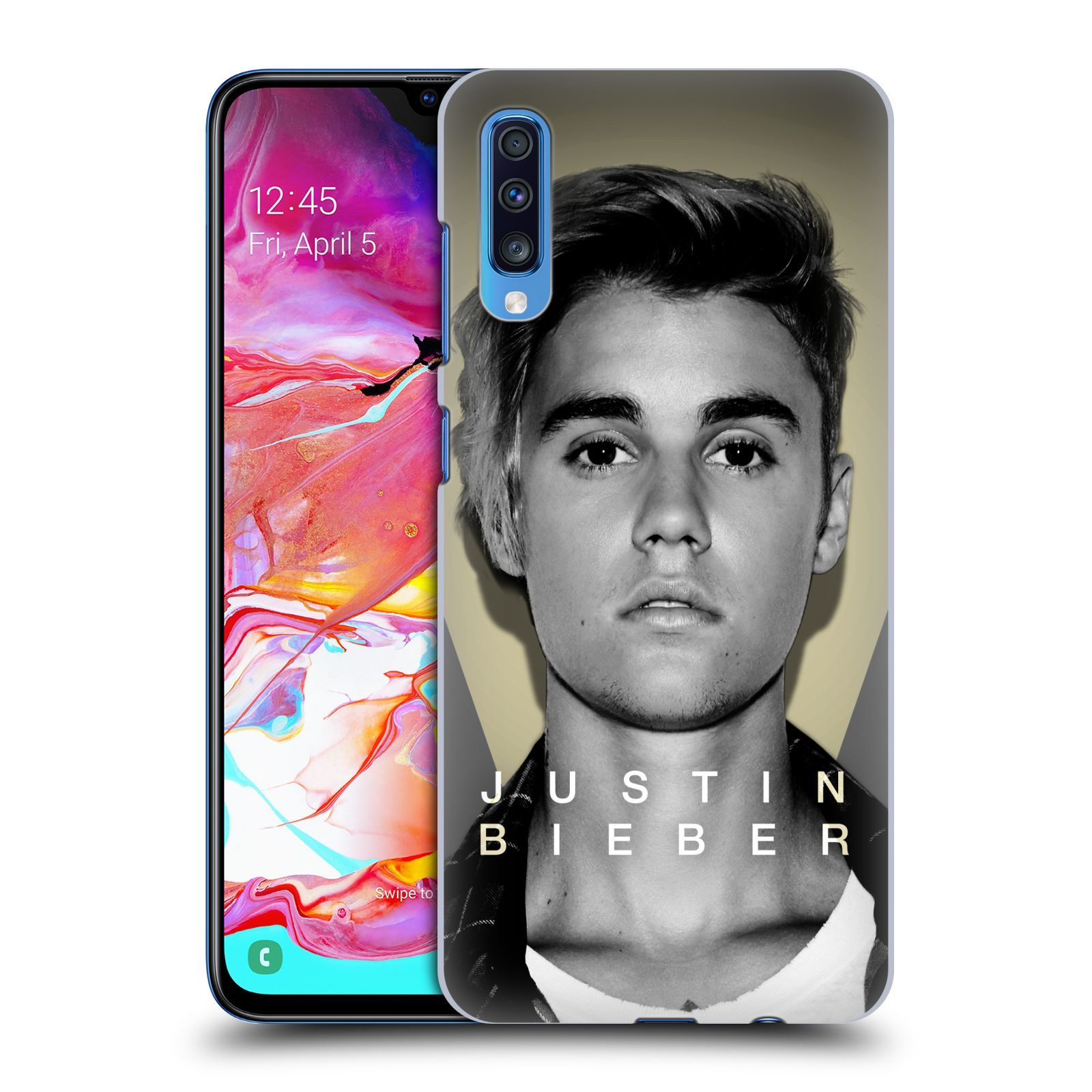 Plastové pouzdro na mobil Samsung Galaxy A70 - Head Case - Justin Bieber Official - Head Shot