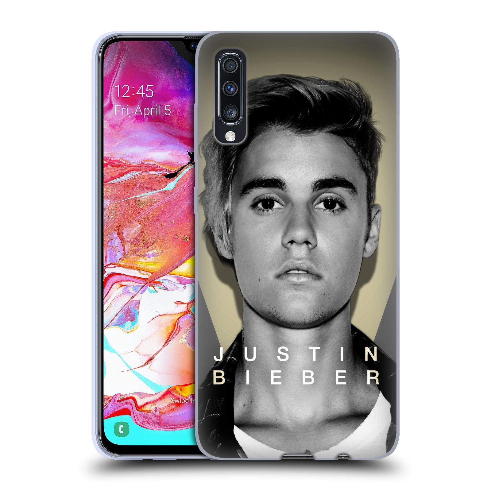 Silikonové pouzdro na mobil Samsung Galaxy A70 - Head Case - Justin Bieber Official - Head Shot