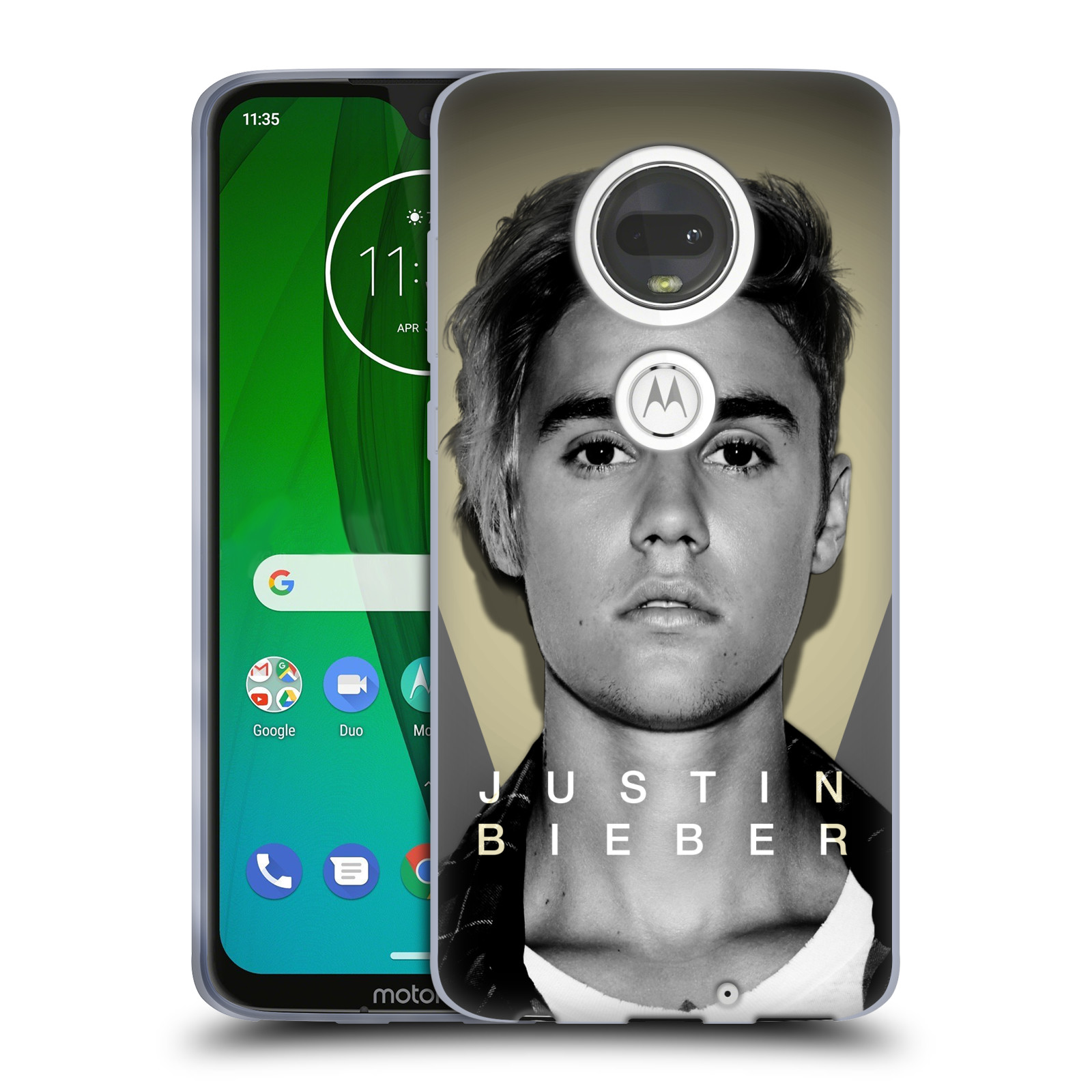 Silikonové pouzdro na mobil Motorola Moto G7 - Head Case - Justin Bieber Official - Head Shot