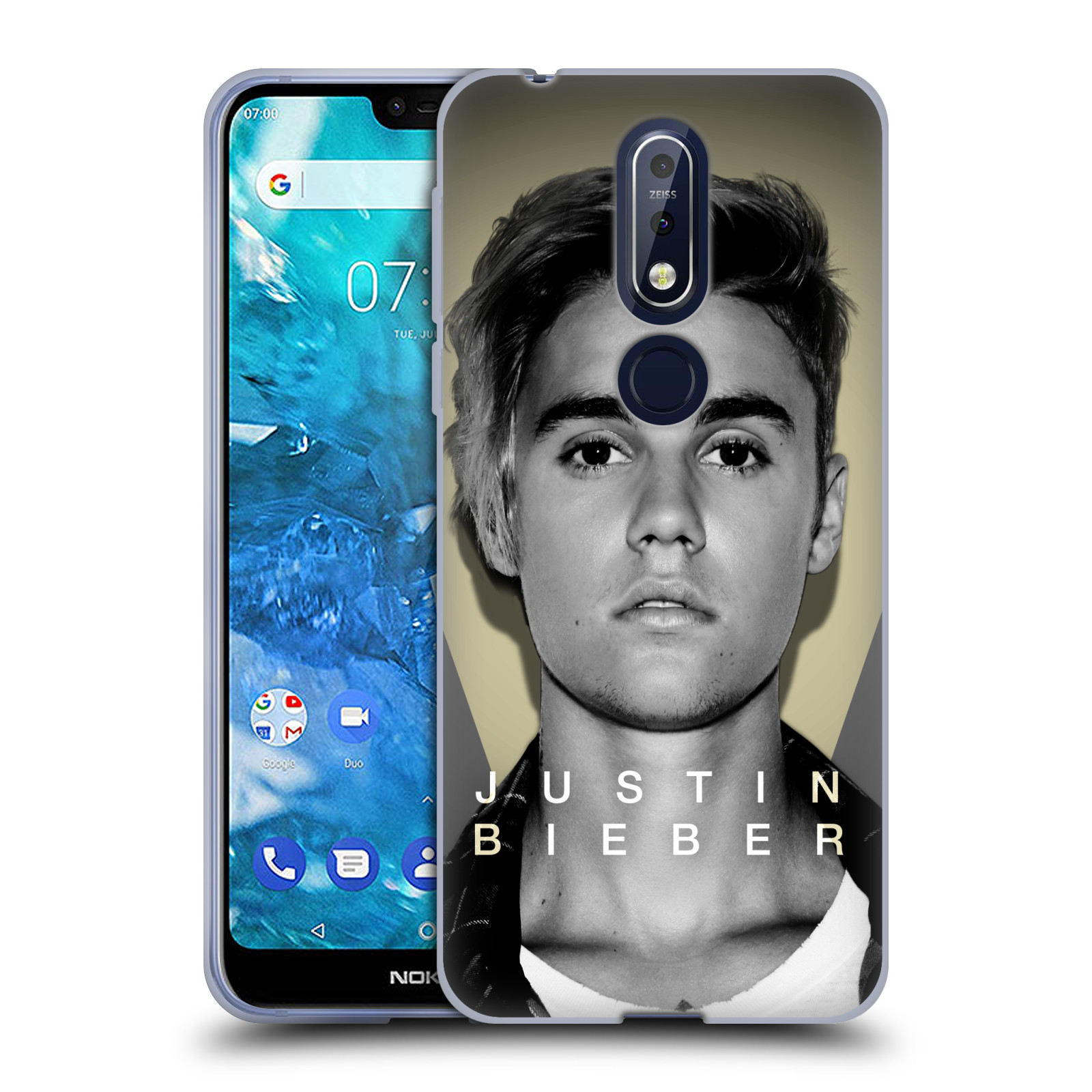 Silikonové pouzdro na mobil Nokia 7.1 - Head Case - Justin Bieber Official - Head Shot