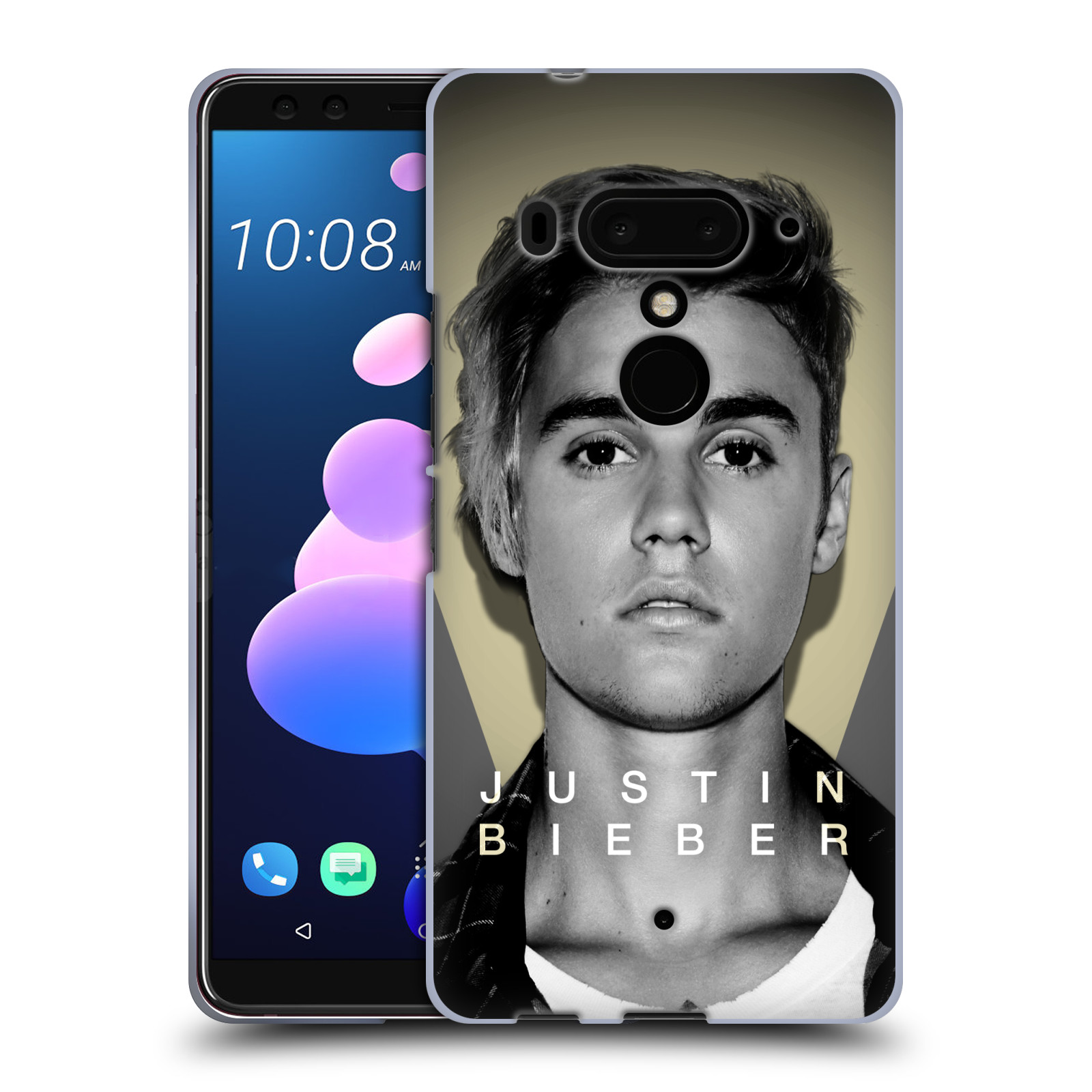 Silikonové pouzdro na mobil HTC U12 Plus - Head Case - Justin Bieber Official - Head Shot