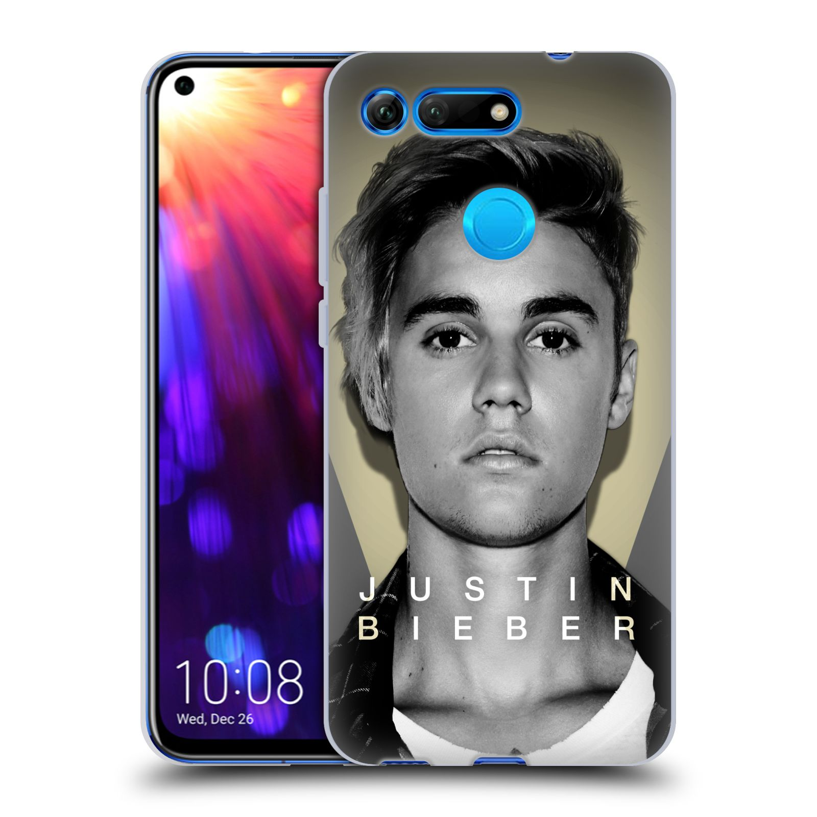 Silikonové pouzdro na mobil Honor View 20 - Head Case - Justin Bieber Official - Head Shot