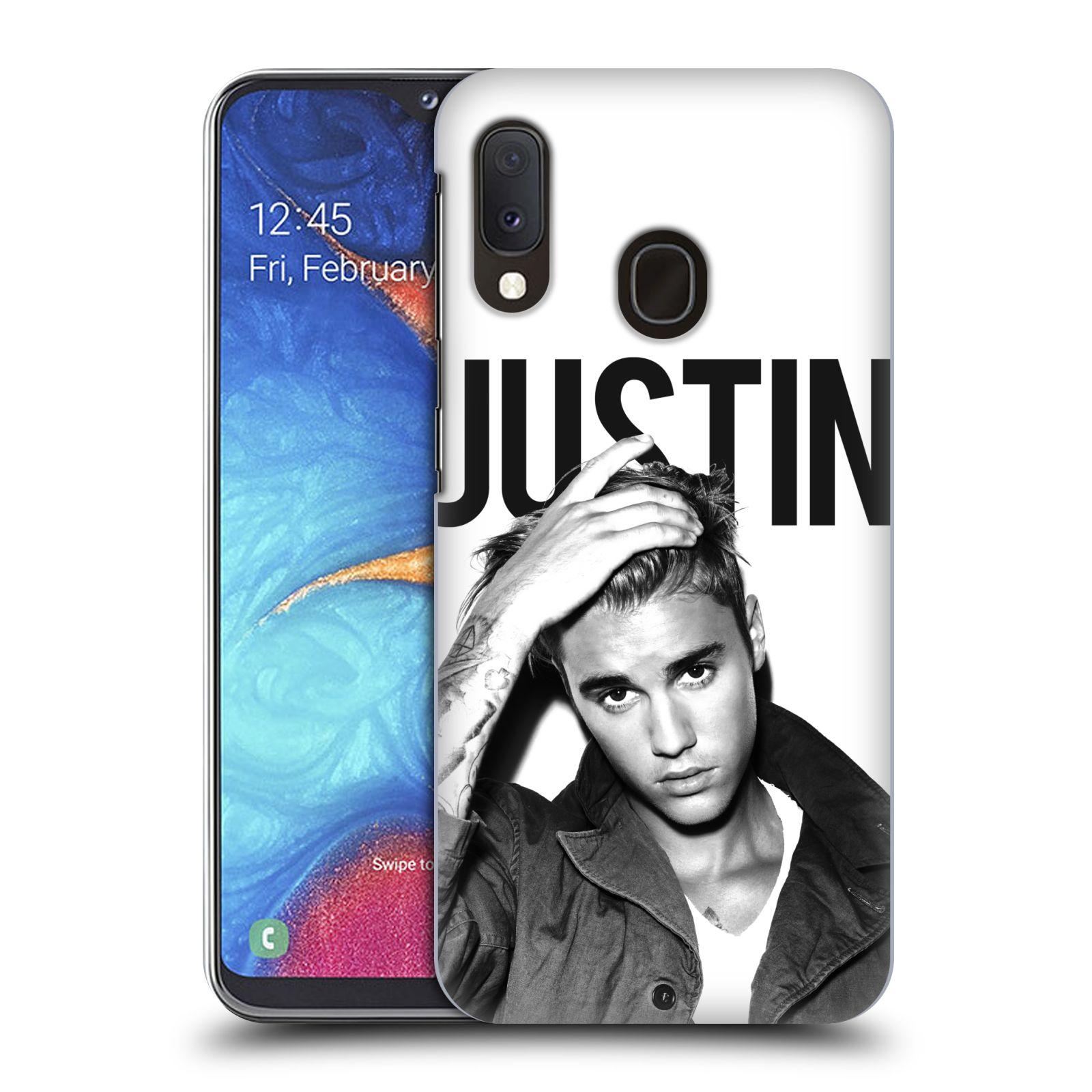 Plastové pouzdro na mobil Samsung Galaxy A20e - Head Case - Justin Bieber Official - Póza