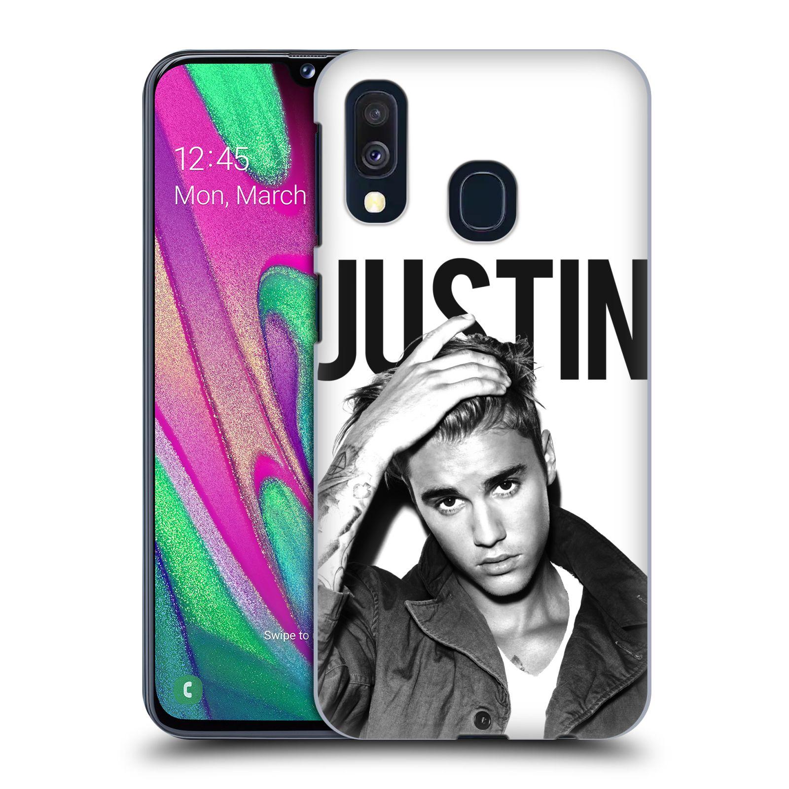 Plastové pouzdro na mobil Samsung Galaxy A40 - Head Case - Justin Bieber Official - Póza
