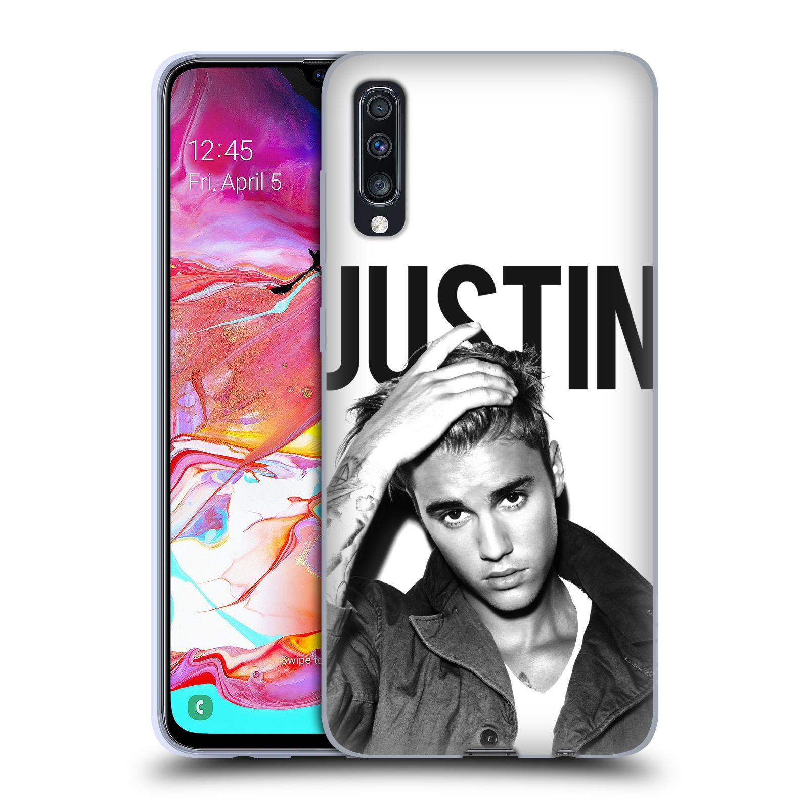 Silikonové pouzdro na mobil Samsung Galaxy A70 - Head Case - Justin Bieber Official - Póza