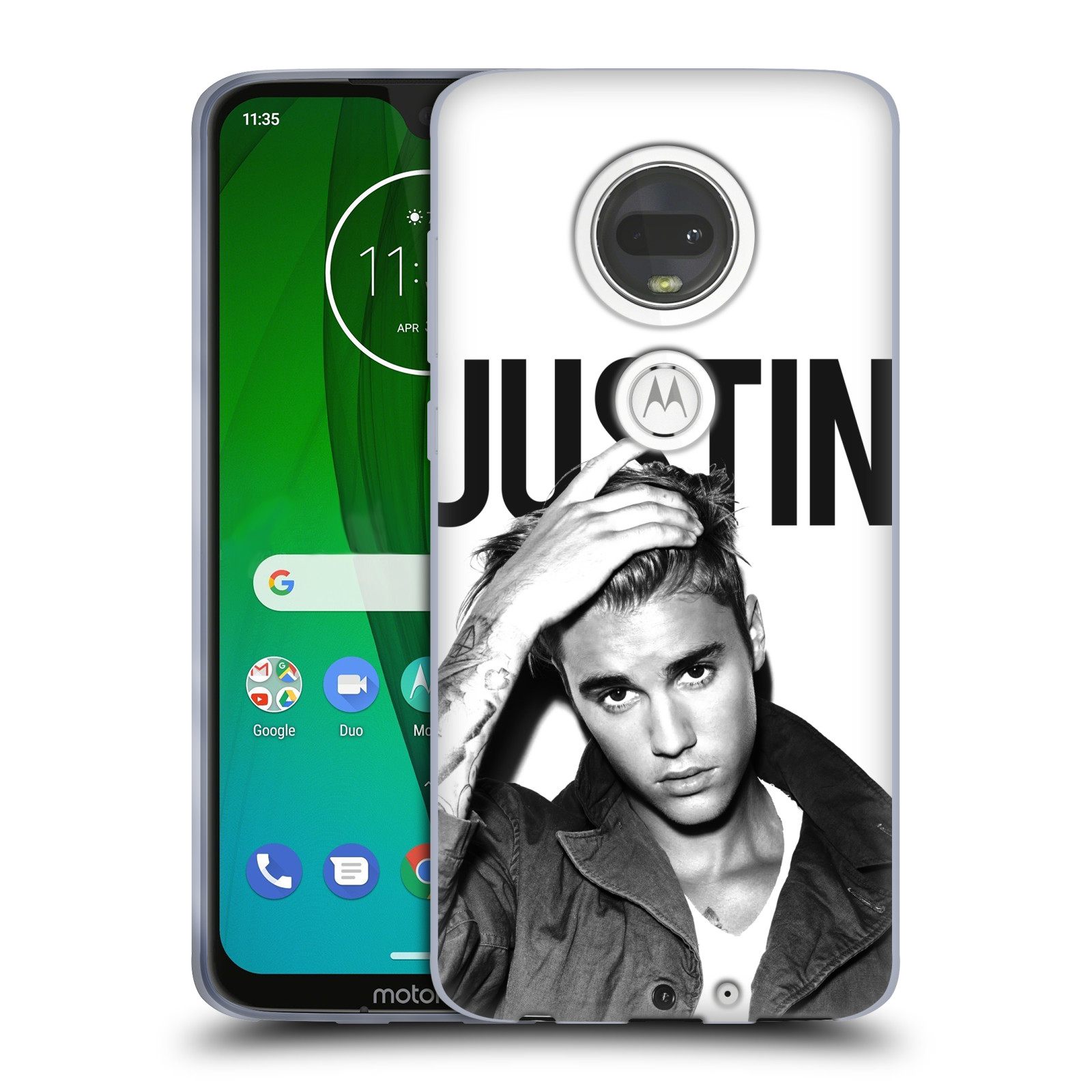 Silikonové pouzdro na mobil Motorola Moto G7 - Head Case - Justin Bieber Official - Póza