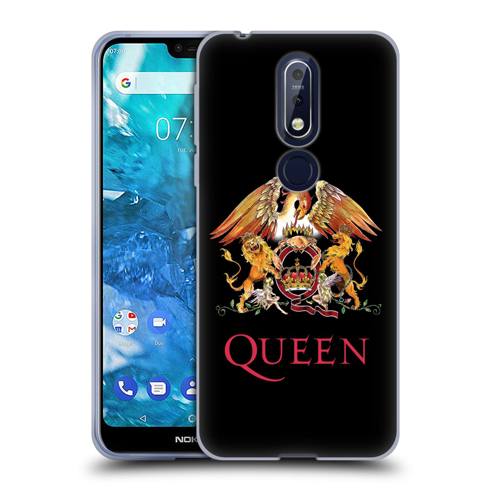 Silikonové pouzdro na mobil Nokia 7.1 - Head Case - Queen - Logo