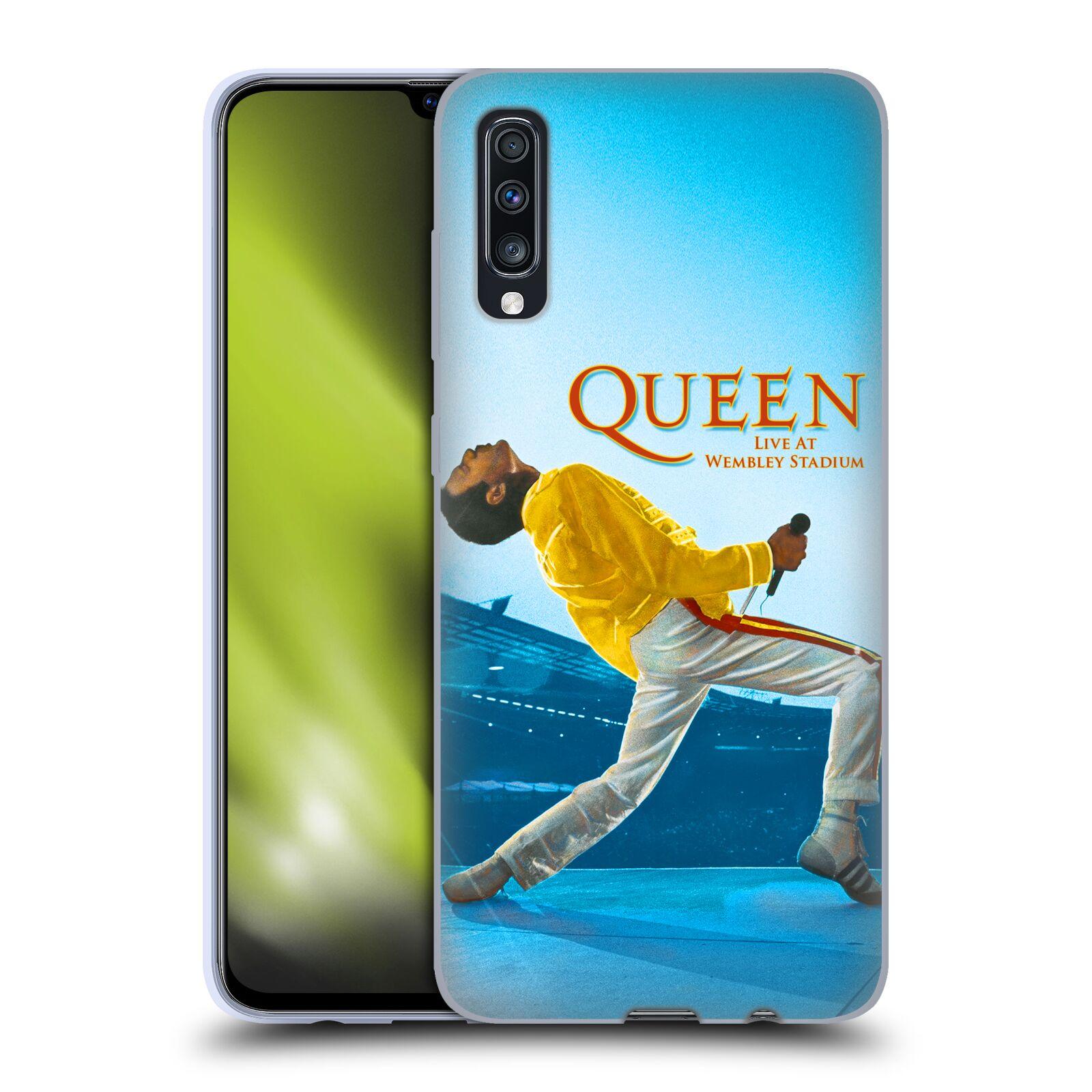 Silikonové pouzdro na mobil Samsung Galaxy A70 - Head Case - Queen - Freddie Mercury