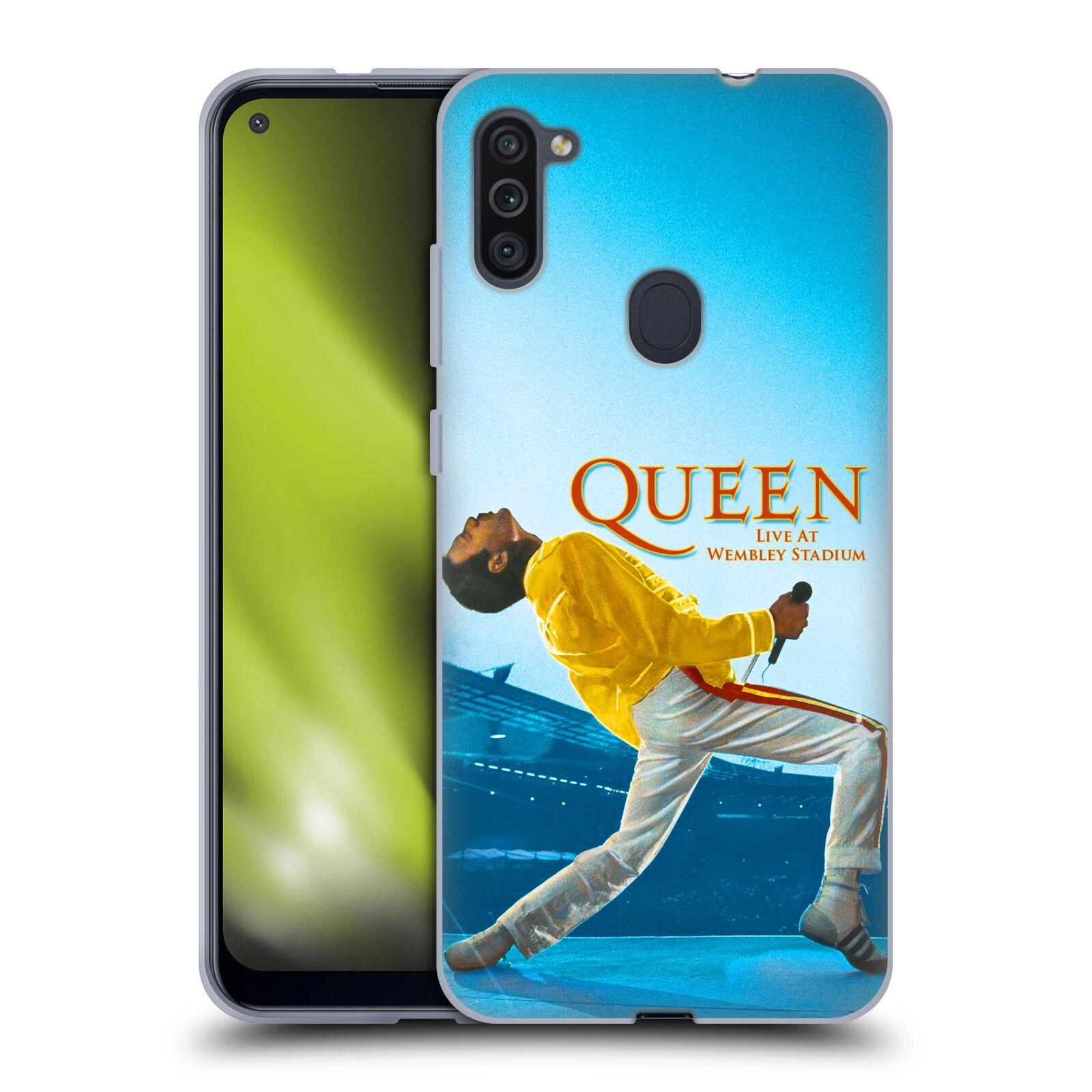 Silikonové pouzdro na mobil Samsung Galaxy M11 - Head Case - Queen - Freddie Mercury