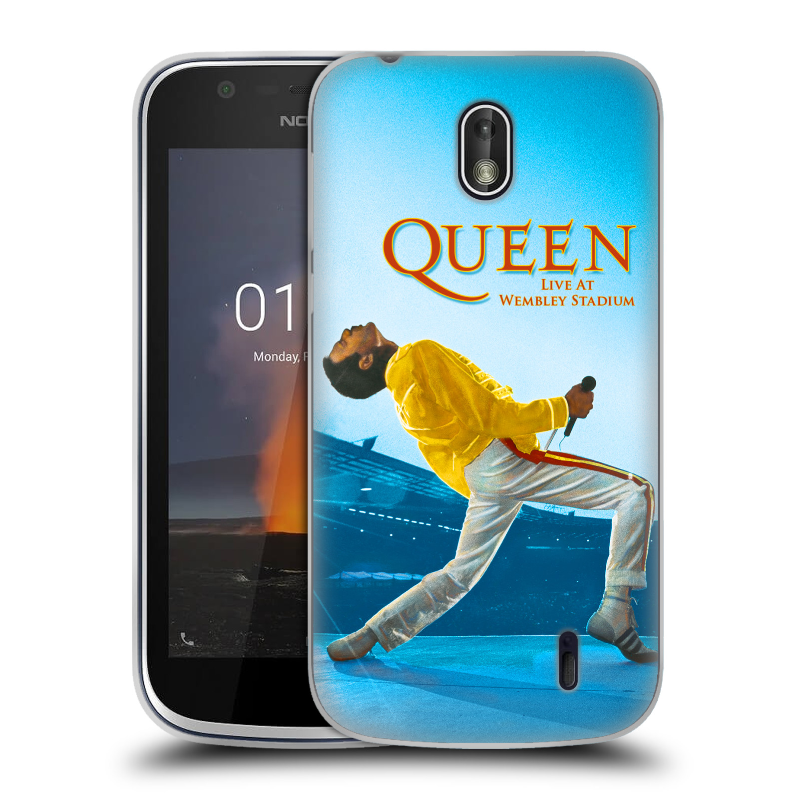 Silikonové pouzdro na mobil Nokia 1 - Head Case - Queen - Freddie Mercury