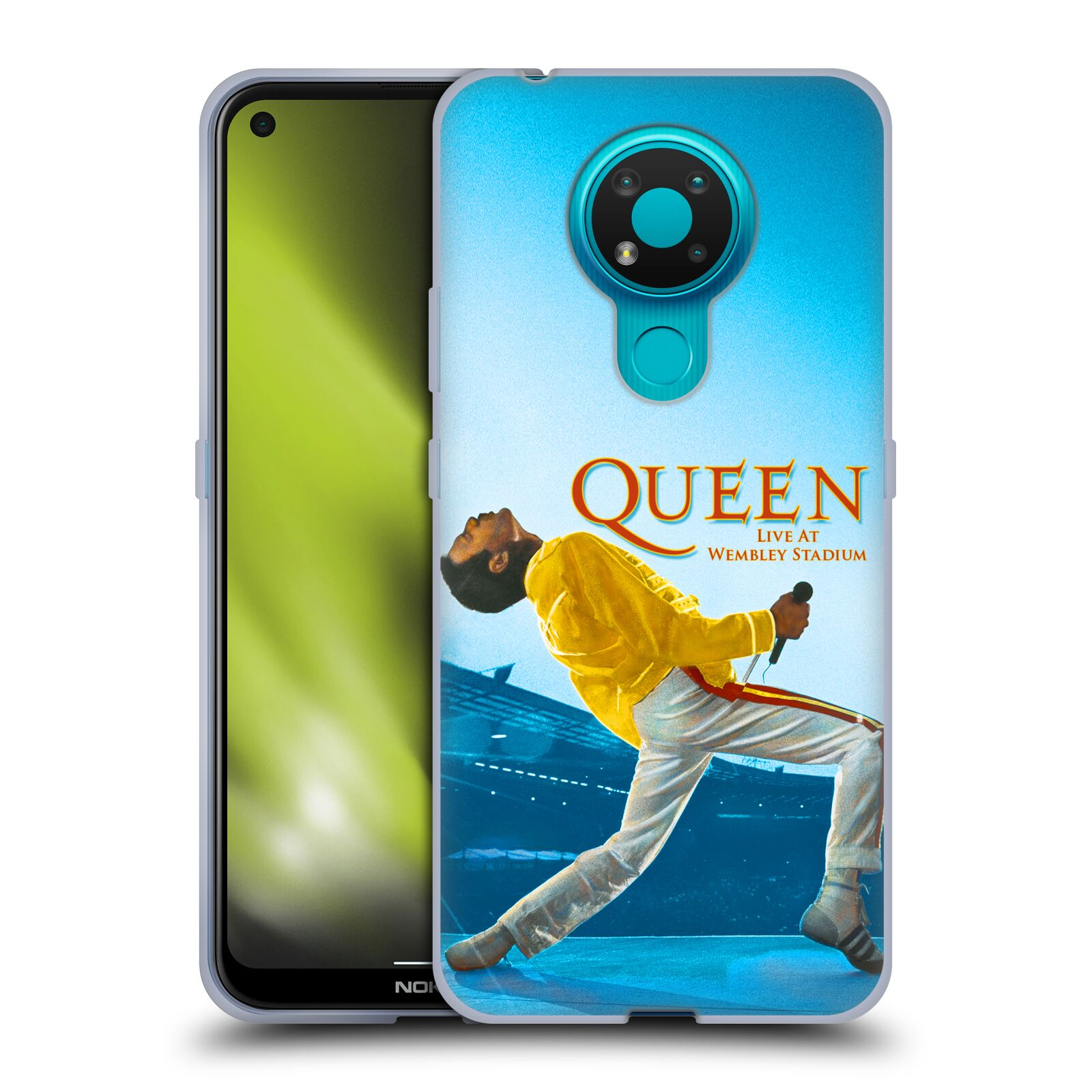 Silikonové pouzdro na mobil Nokia 3.4 - Head Case - Queen - Freddie Mercury