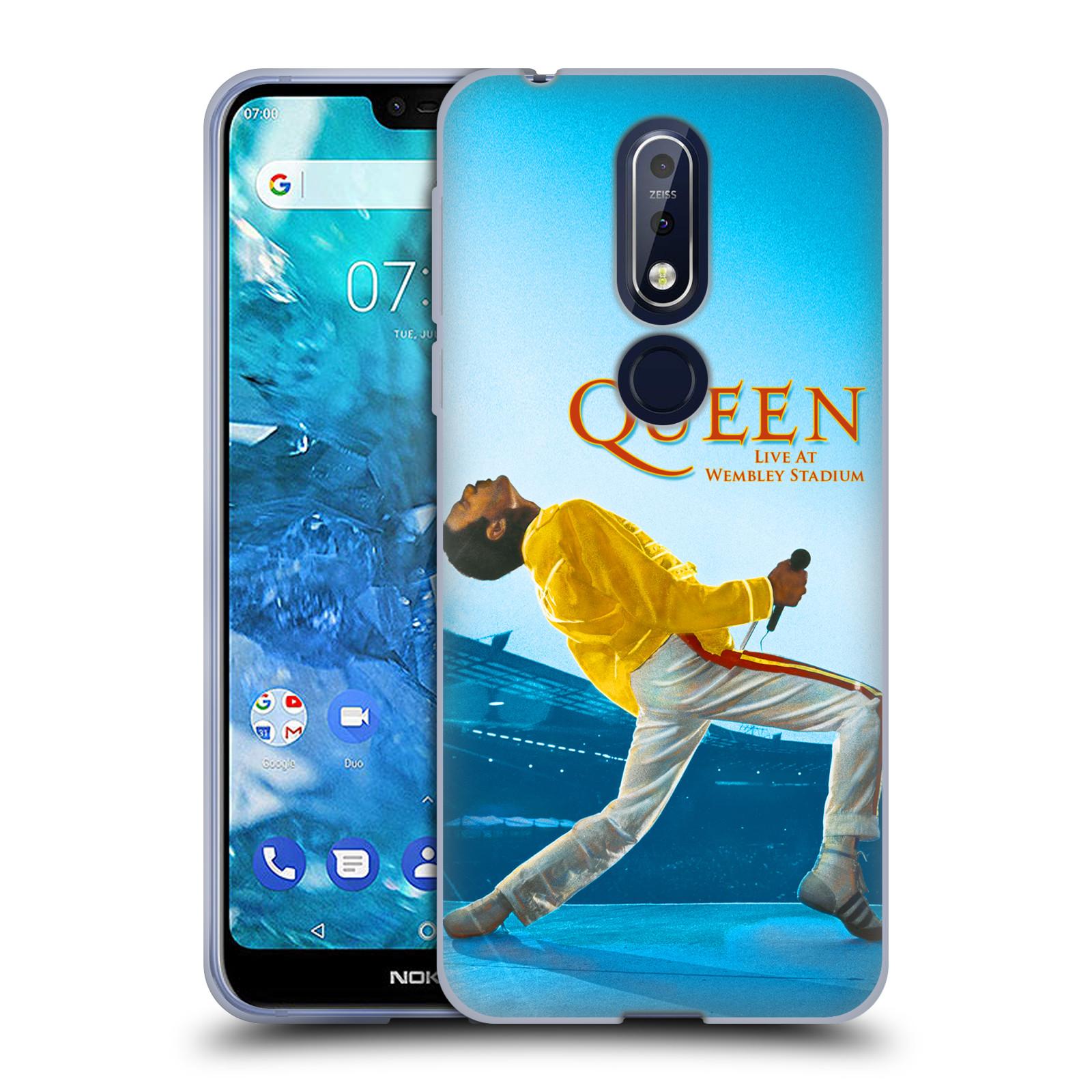 Silikonové pouzdro na mobil Nokia 7.1 - Head Case - Queen - Freddie Mercury
