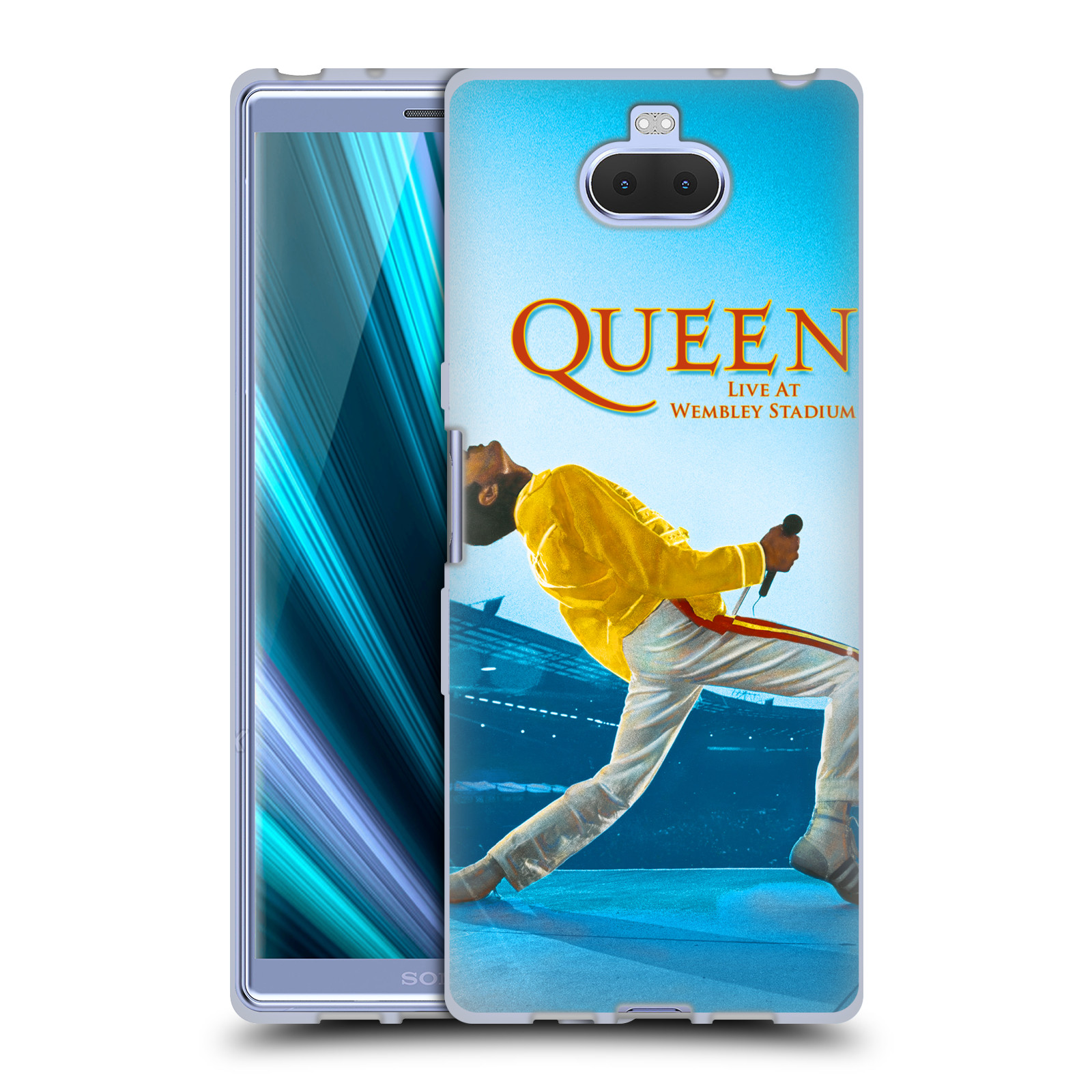 Silikonové pouzdro na mobil Sony Xperia 10 - Head Case - Queen - Freddie Mercury