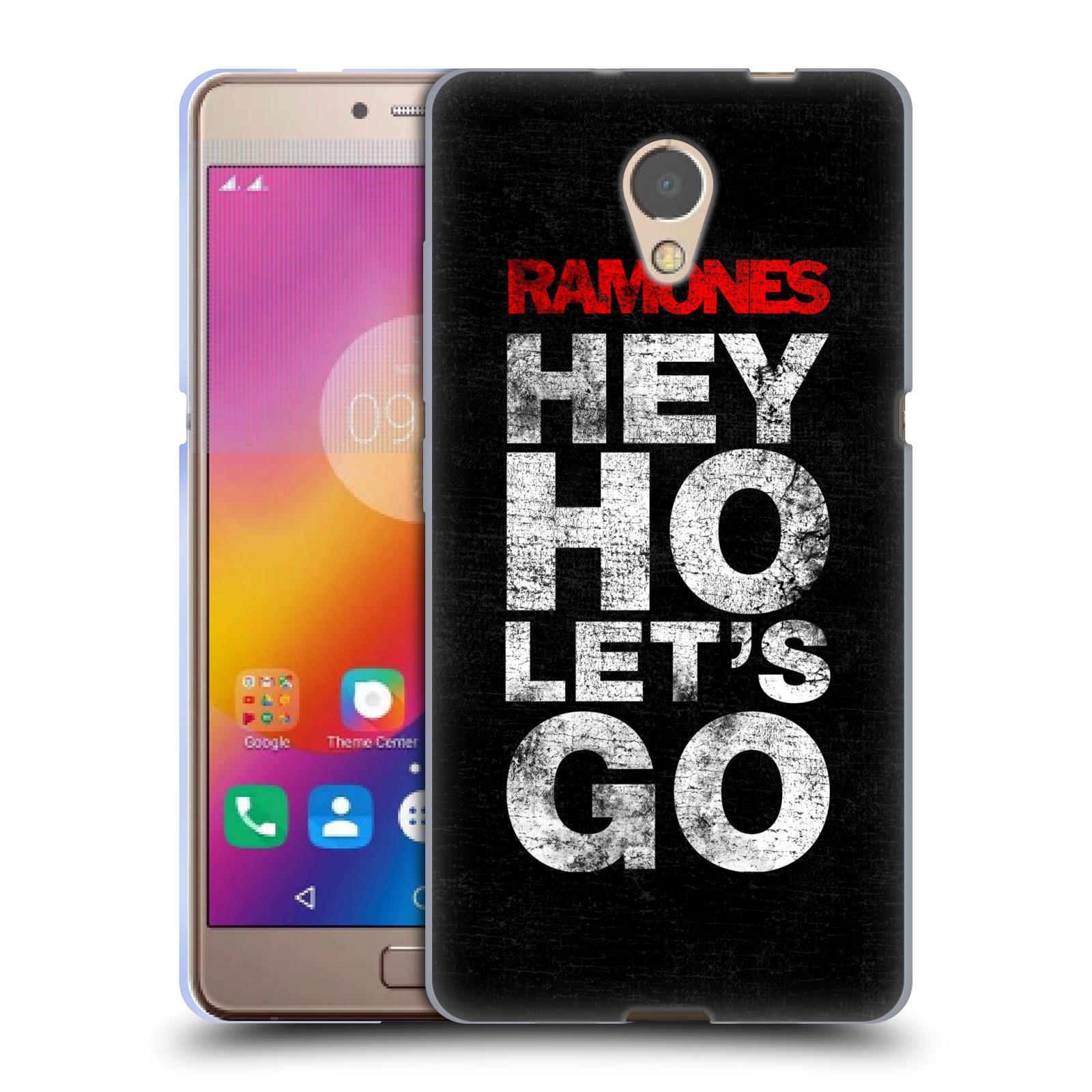 Silikonové pouzdro na mobil Lenovo P2 - Head Case - The Ramones - HEY HO LET´S GO (Silikonový kryt či obal na mobilní telefon Lenovo P2 Dual Sim s motivem The Ramones - HEY HO LET´S GO)