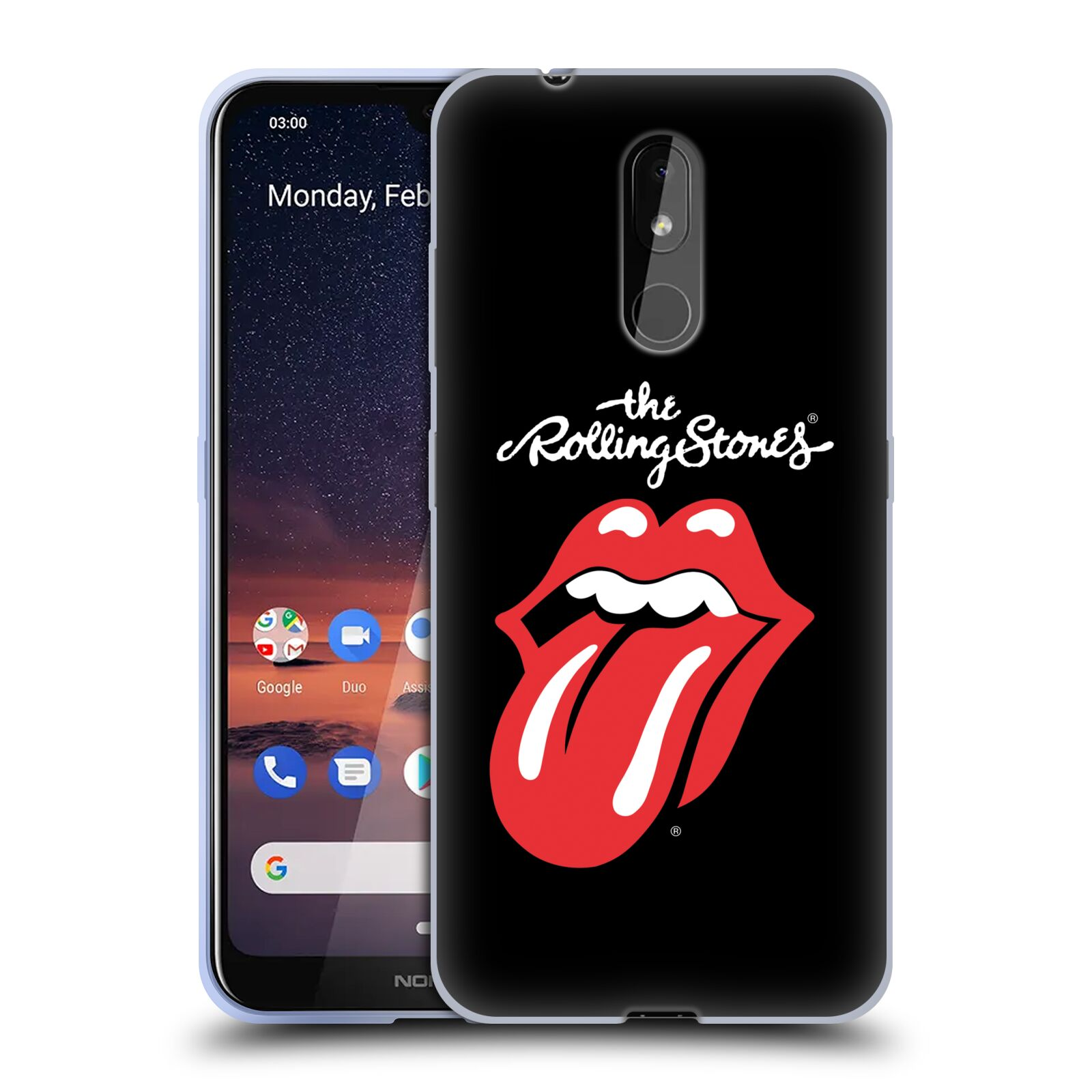 Silikonové pouzdro na mobil Nokia 3.2 - Head Case - The Rolling Stones - Classic Lick