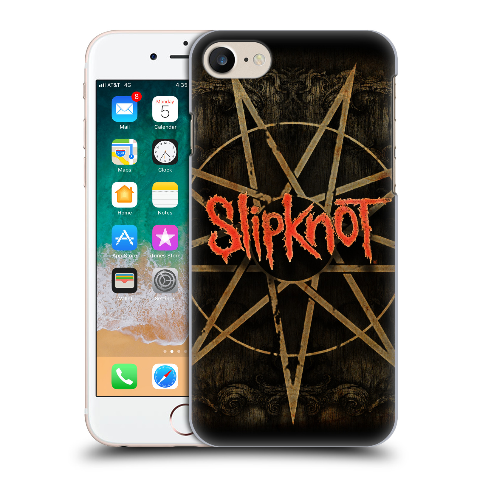 Plastové pouzdro na mobil Apple iPhone SE (2020) - Head Case - Slipknot - Znak