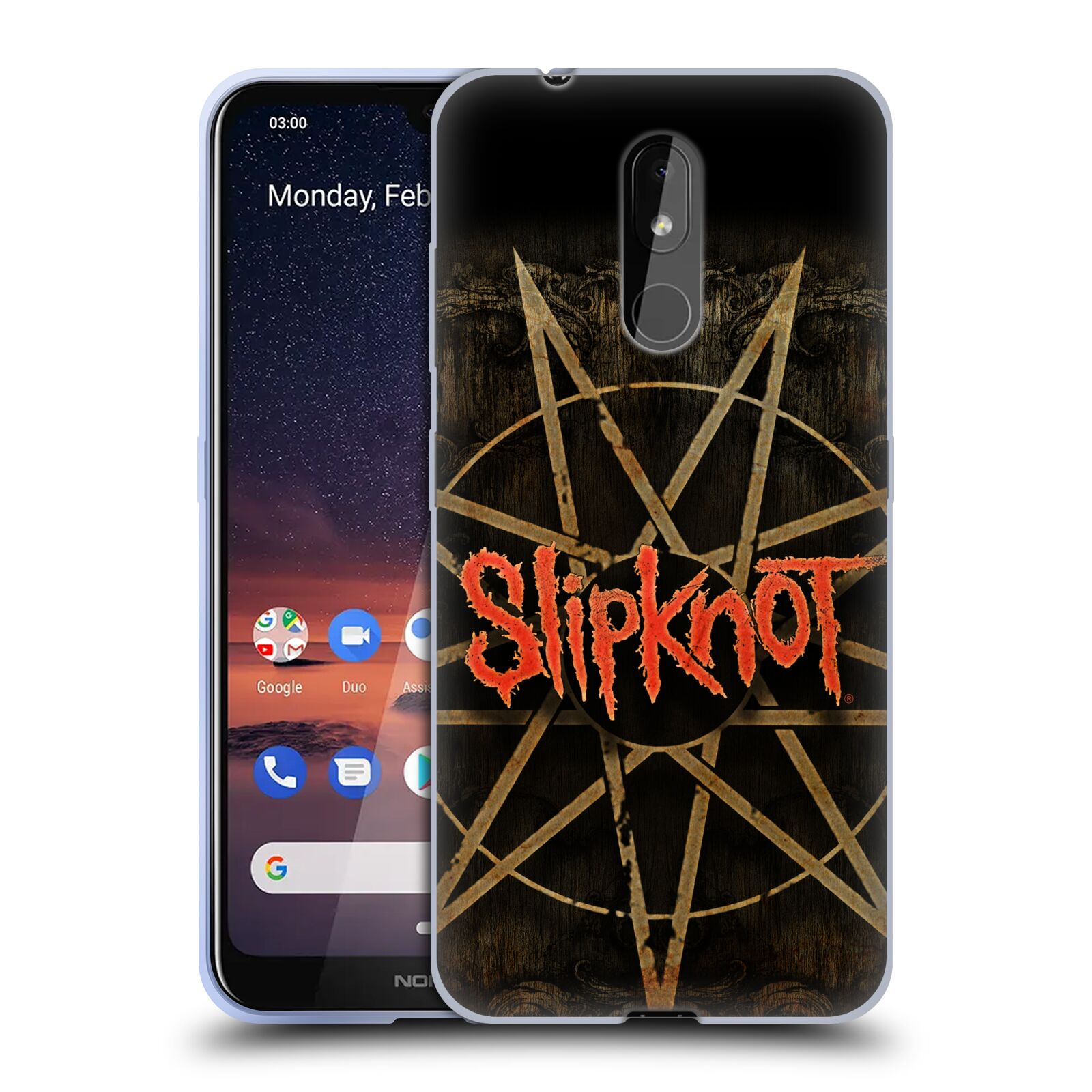 Silikonové pouzdro na mobil Nokia 3.2 - Head Case - Slipknot - Znak