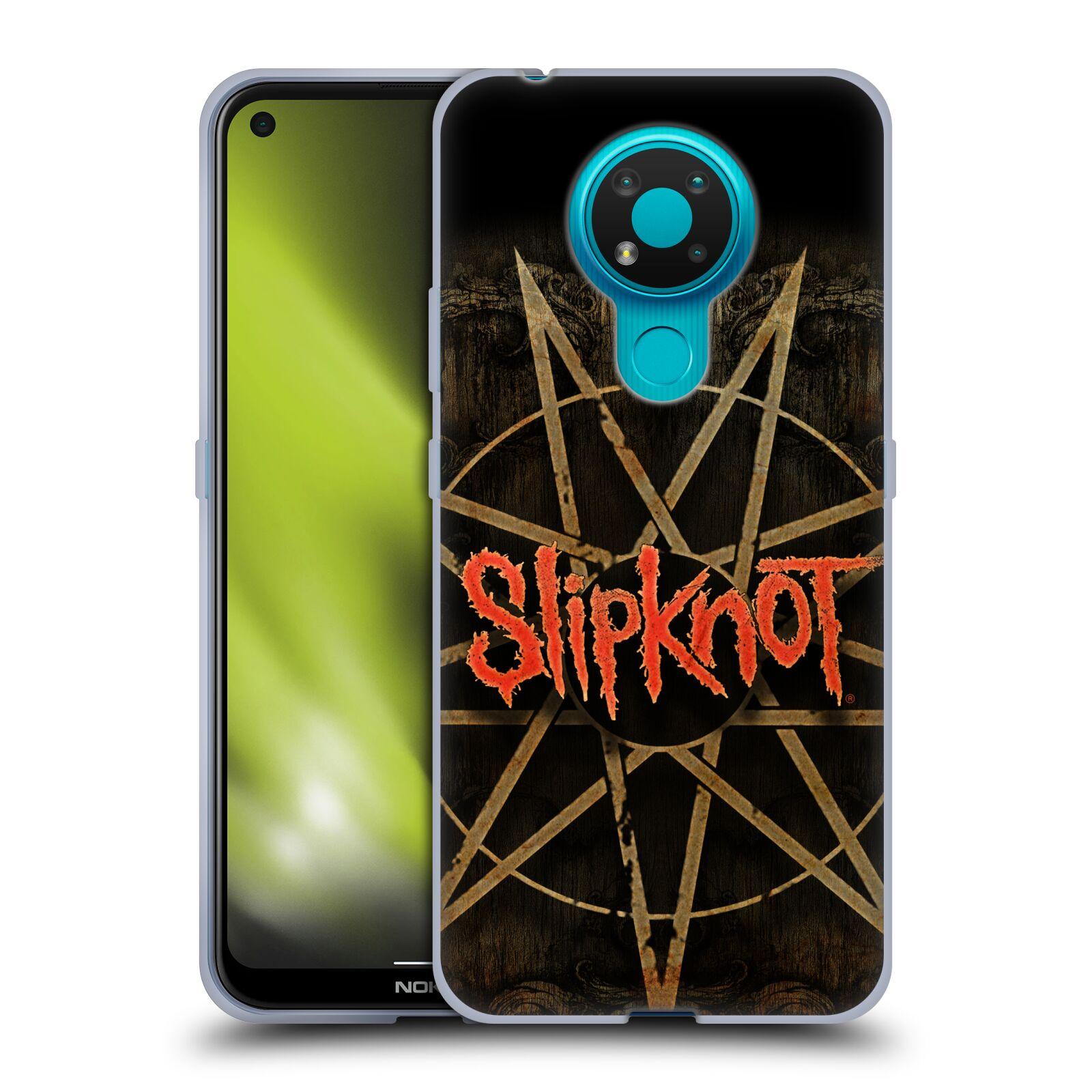Silikonové pouzdro na mobil Nokia 3.4 - Head Case - Slipknot - Znak