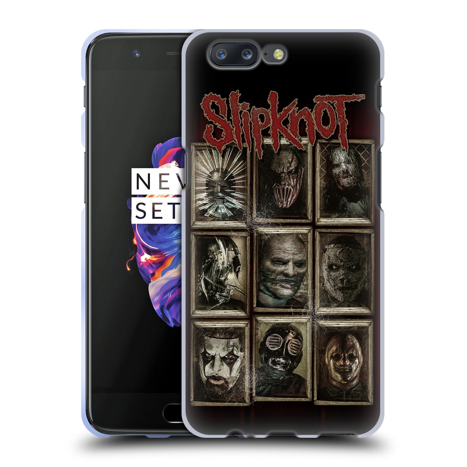 Silikonové pouzdro na mobil OnePlus 5 - Head Case - Slipknot - Masky (Silikonový kryt či obal na mobilní telefon OnePlus 5 s motivem Slipknot - Masky)