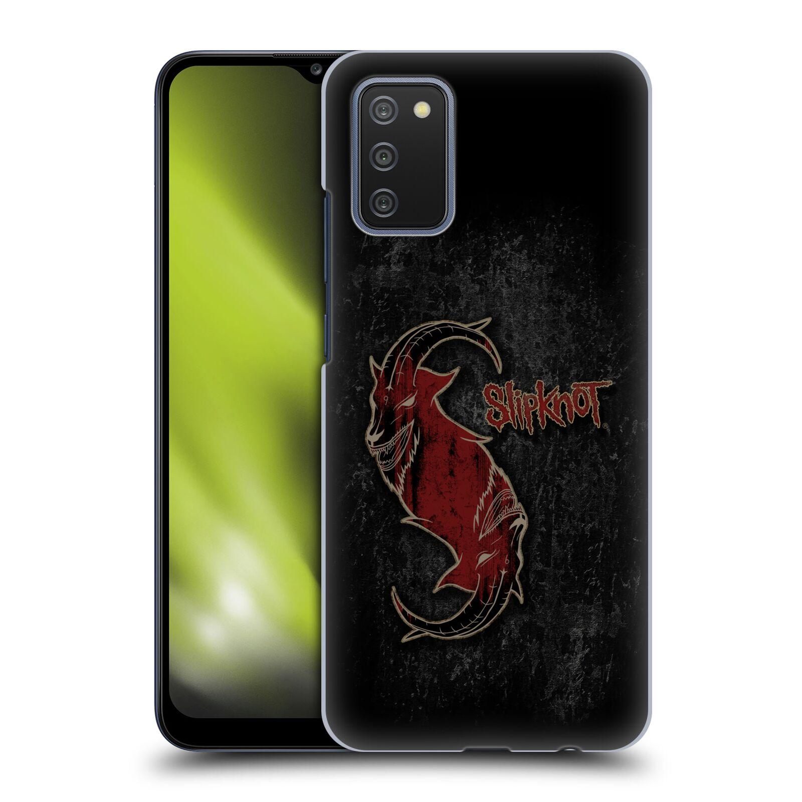 Plastové pouzdro na mobil Samsung Galaxy A02s - Head Case - Slipknot - Rudý kozel