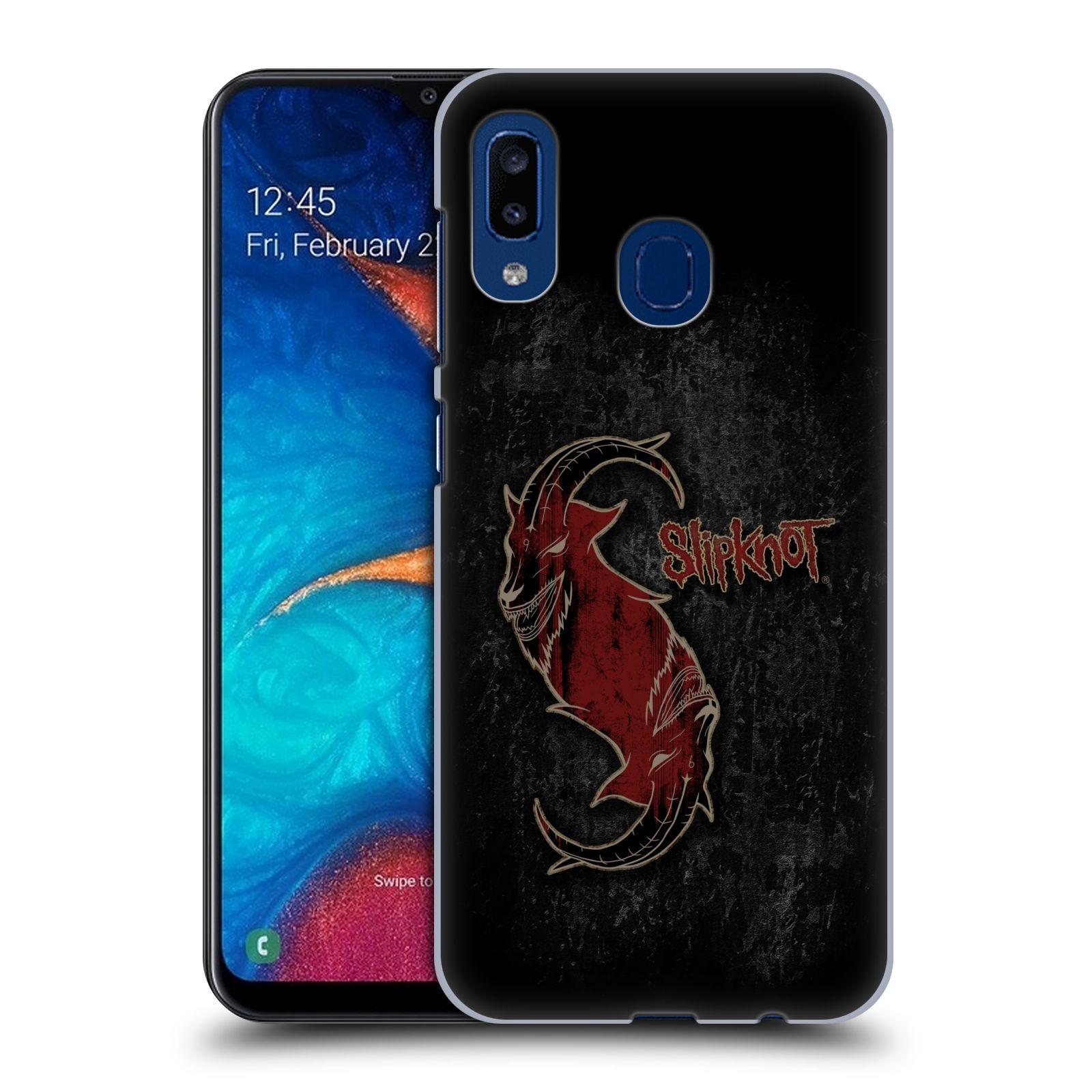 Plastové pouzdro na mobil Samsung Galaxy A20 - Head Case - Slipknot - Rudý kozel