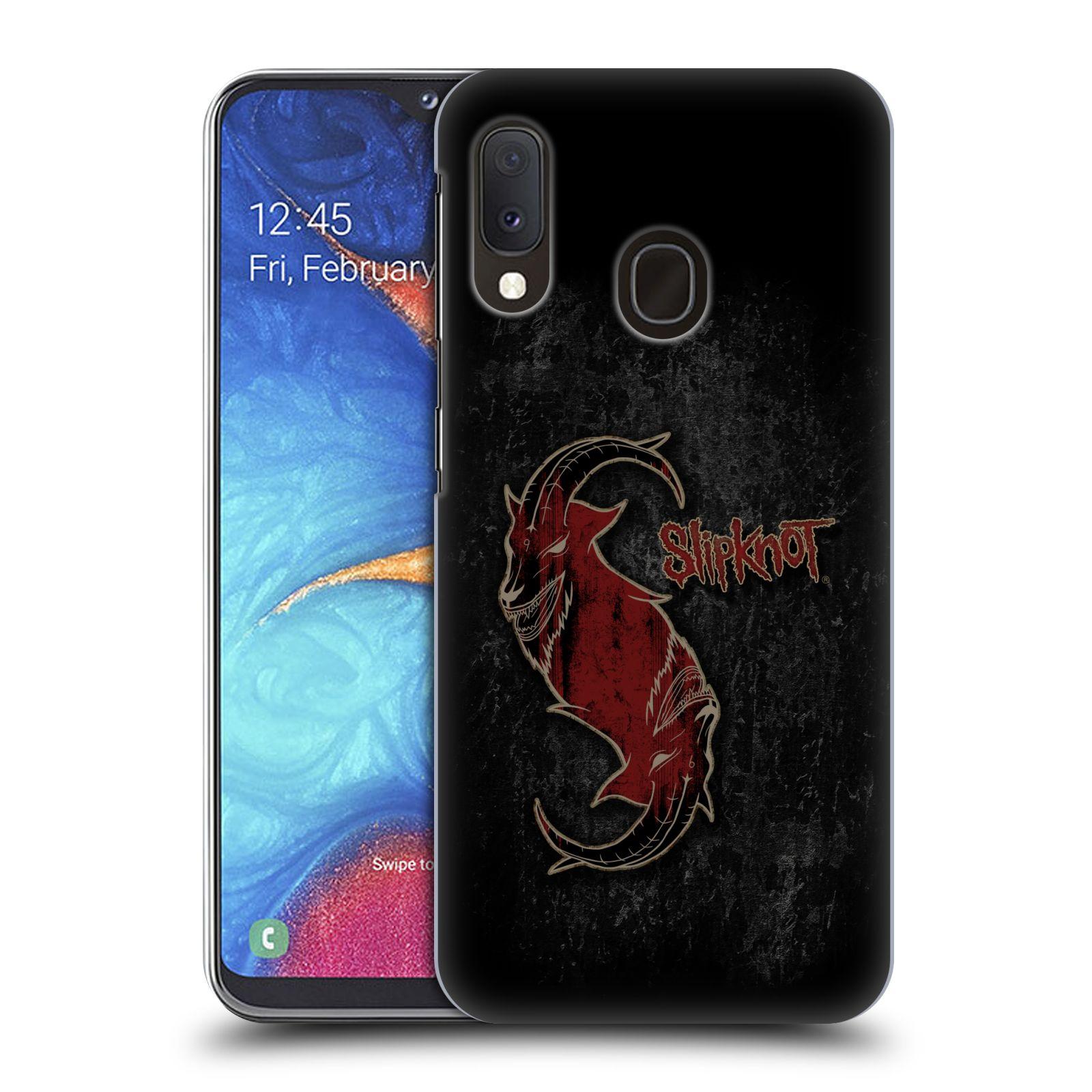Plastové pouzdro na mobil Samsung Galaxy A20e - Head Case - Slipknot - Rudý kozel