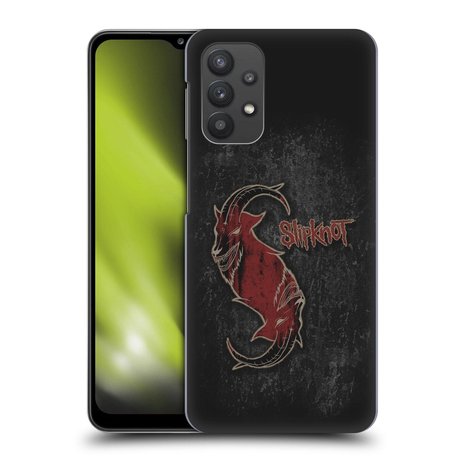 Plastové pouzdro na mobil Samsung Galaxy A32 5G - Head Case - Slipknot - Rudý kozel