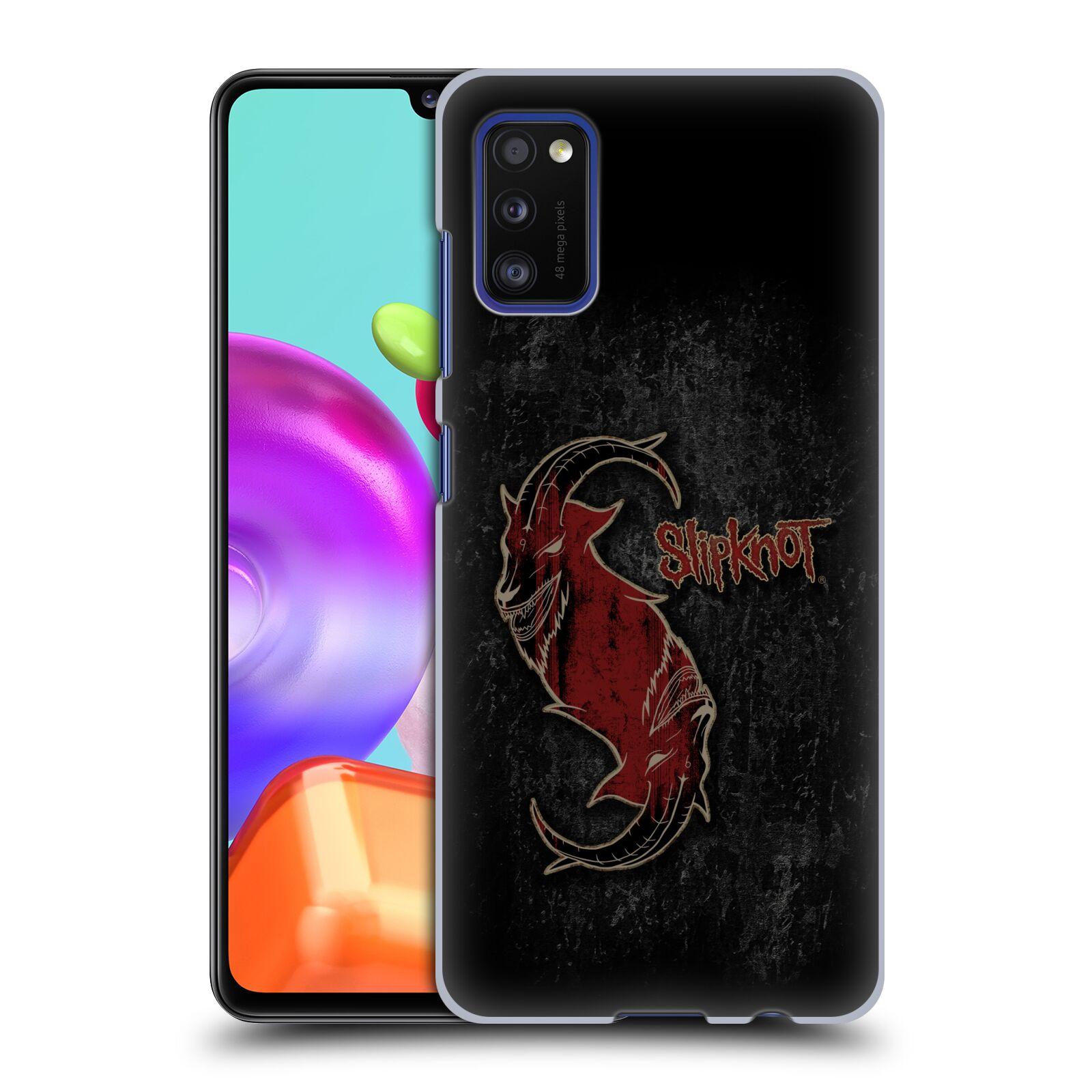 Plastové pouzdro na mobil Samsung Galaxy A41 - Head Case - Slipknot - Rudý kozel