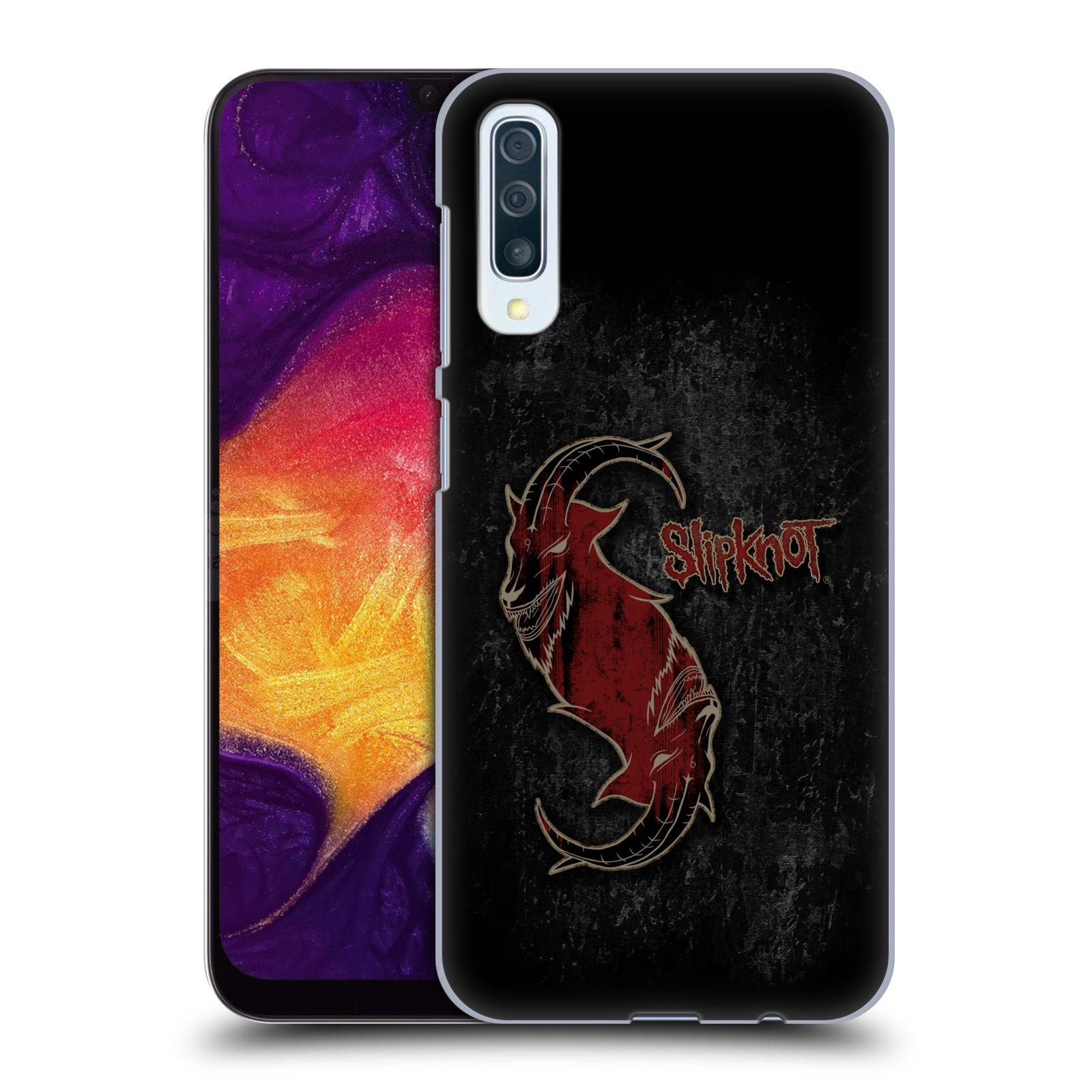 Plastové pouzdro na mobil Samsung Galaxy A50 - Head Case - Slipknot - Rudý kozel