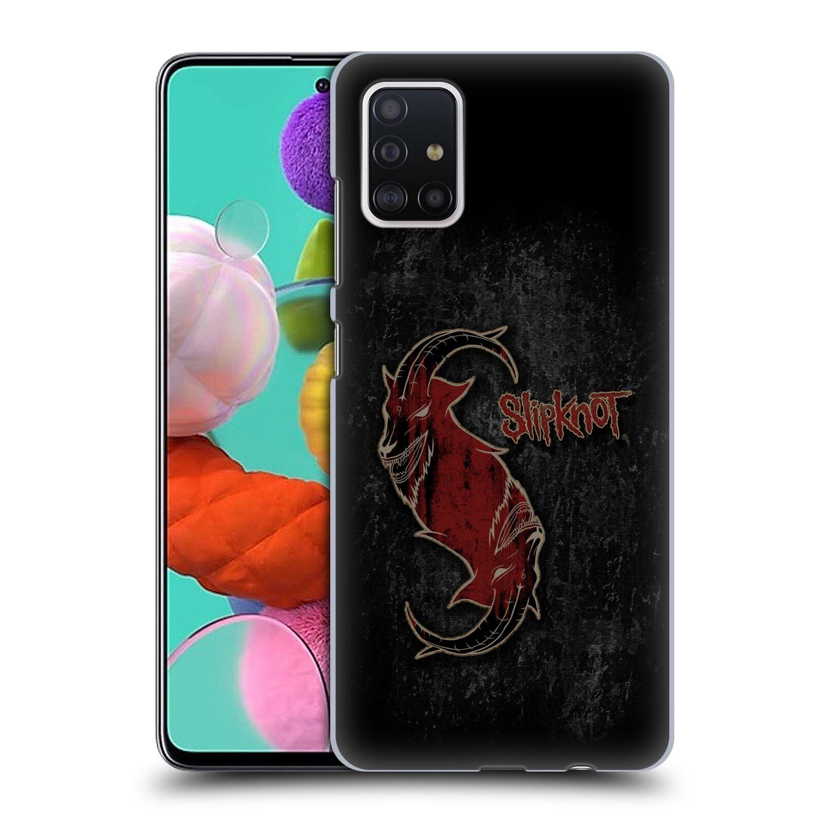 Plastové pouzdro na mobil Samsung Galaxy A51 - Head Case - Slipknot - Rudý kozel