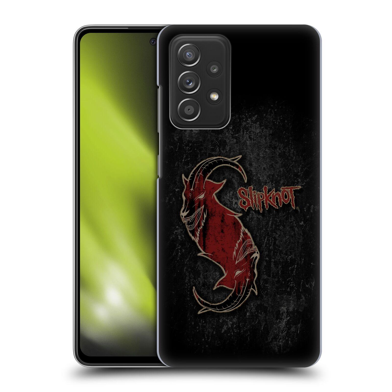 Plastové pouzdro na mobil Samsung Galaxy A52 / A52 5G / A52s 5G - Head Case - Slipknot - Rudý kozel