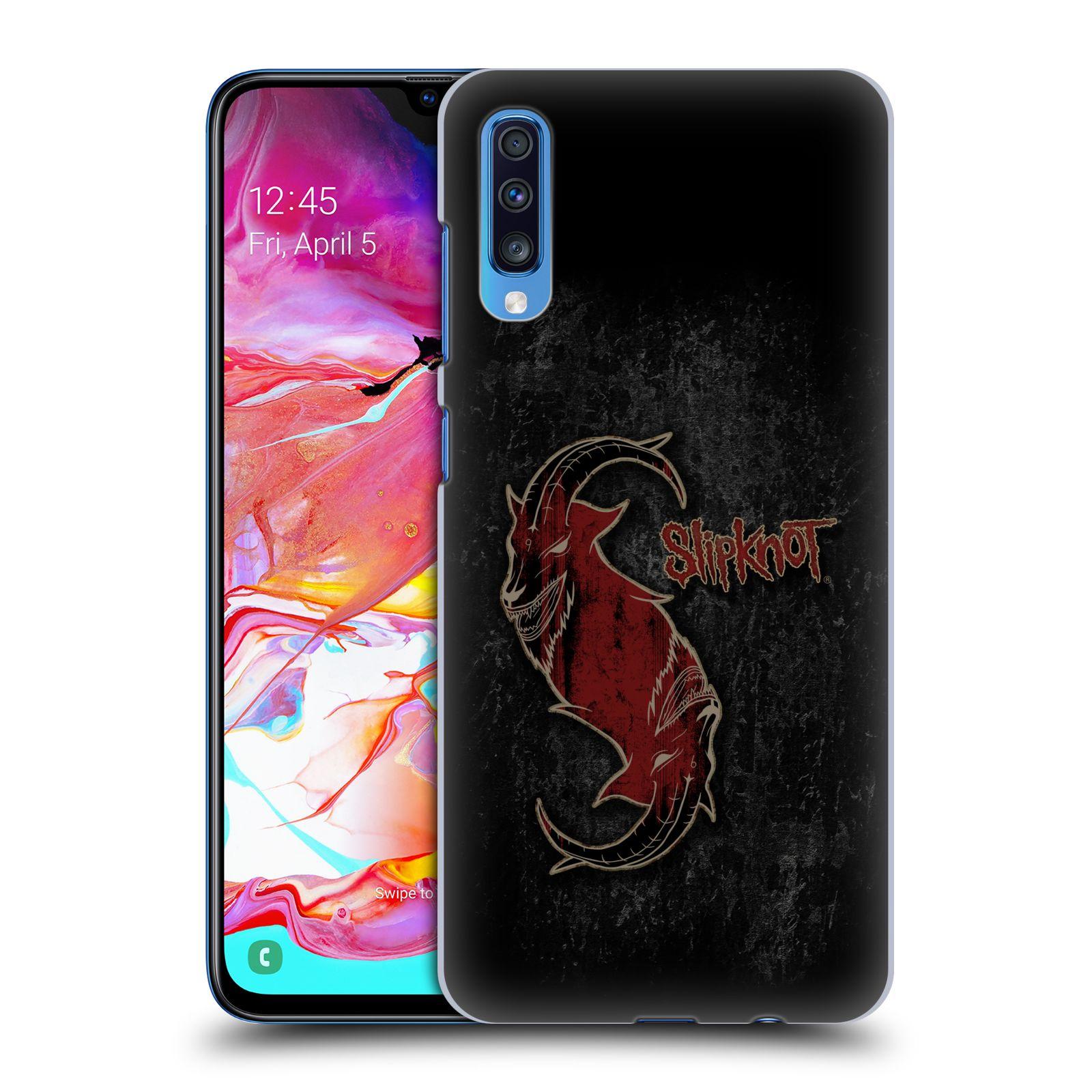 Plastové pouzdro na mobil Samsung Galaxy A70 - Head Case - Slipknot - Rudý kozel