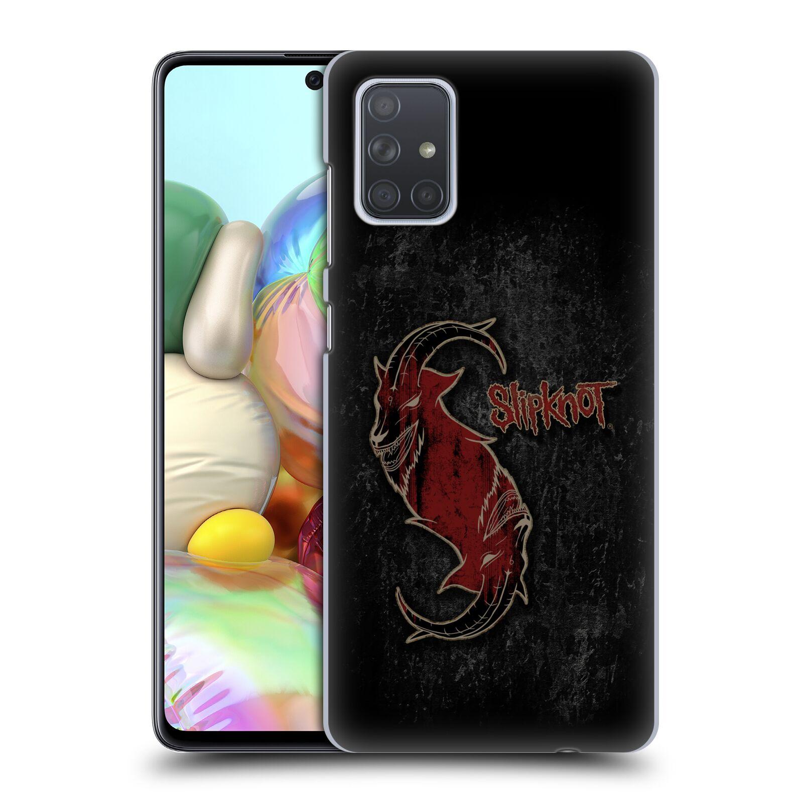 Plastové pouzdro na mobil Samsung Galaxy A71 - Head Case - Slipknot - Rudý kozel