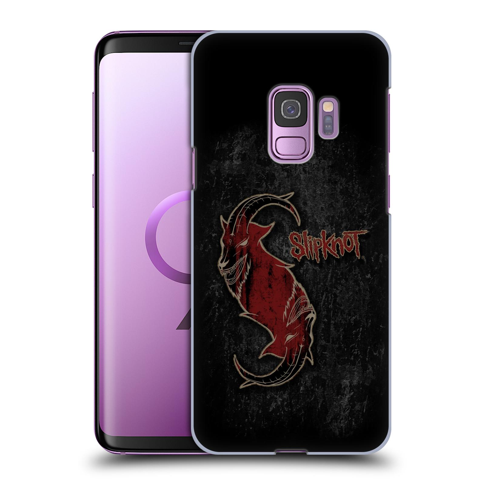 Plastové pouzdro na mobil Samsung Galaxy S9 - Head Case - Slipknot - Rudý kozel
