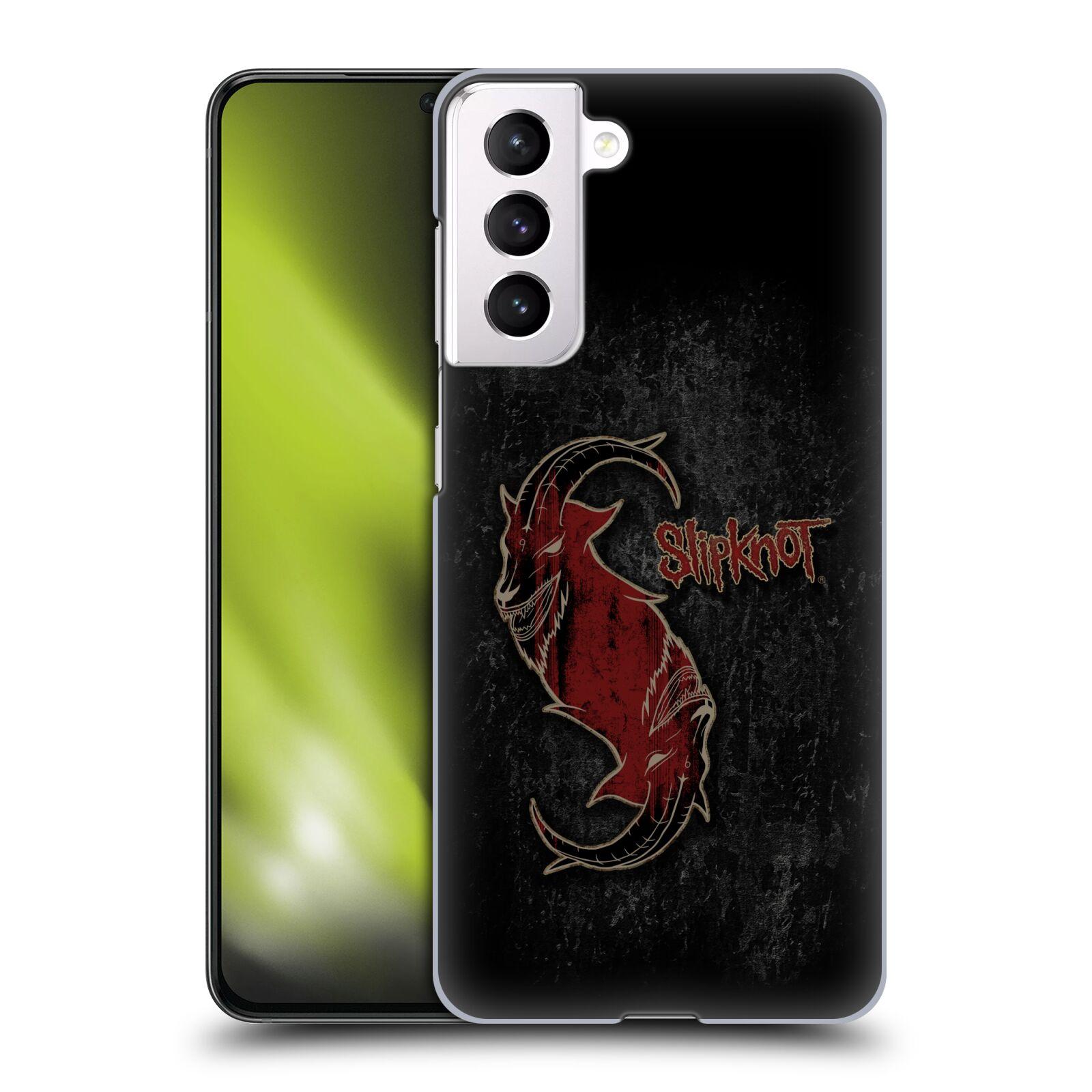 Plastové pouzdro na mobil Samsung Galaxy S21 5G - Head Case - Slipknot - Rudý kozel