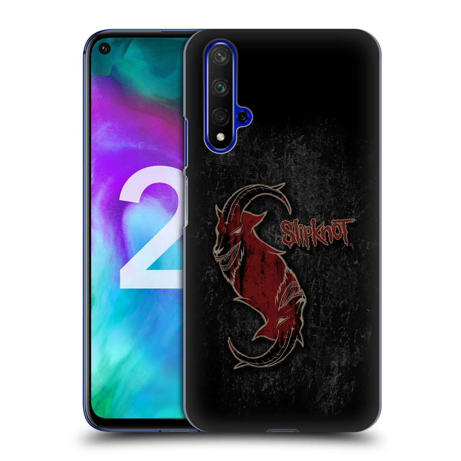 Plastové pouzdro na mobil Honor 20 - Head Case - Slipknot - Rudý kozel