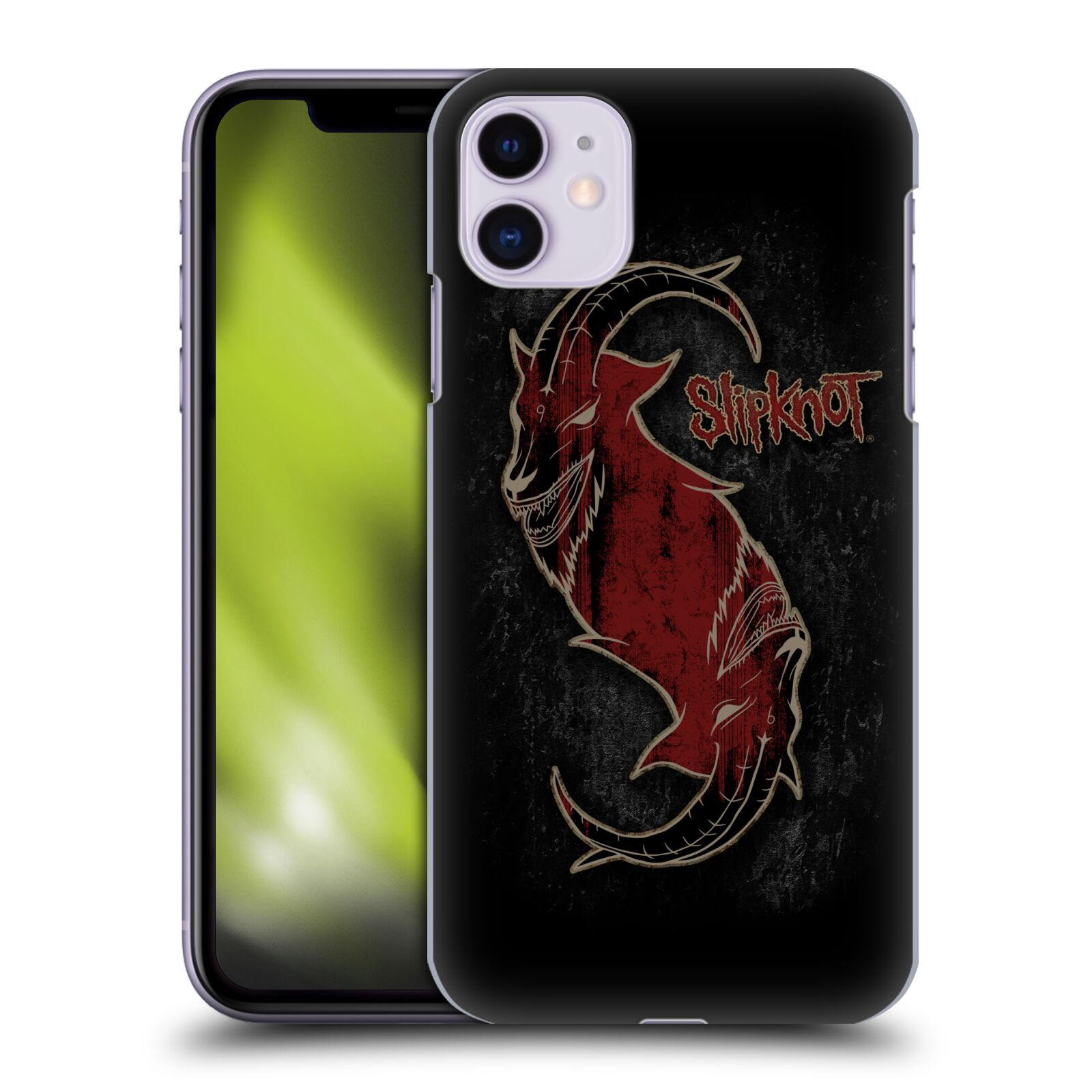 Plastové pouzdro na mobil Apple iPhone 11 - Head Case - Slipknot - Rudý kozel