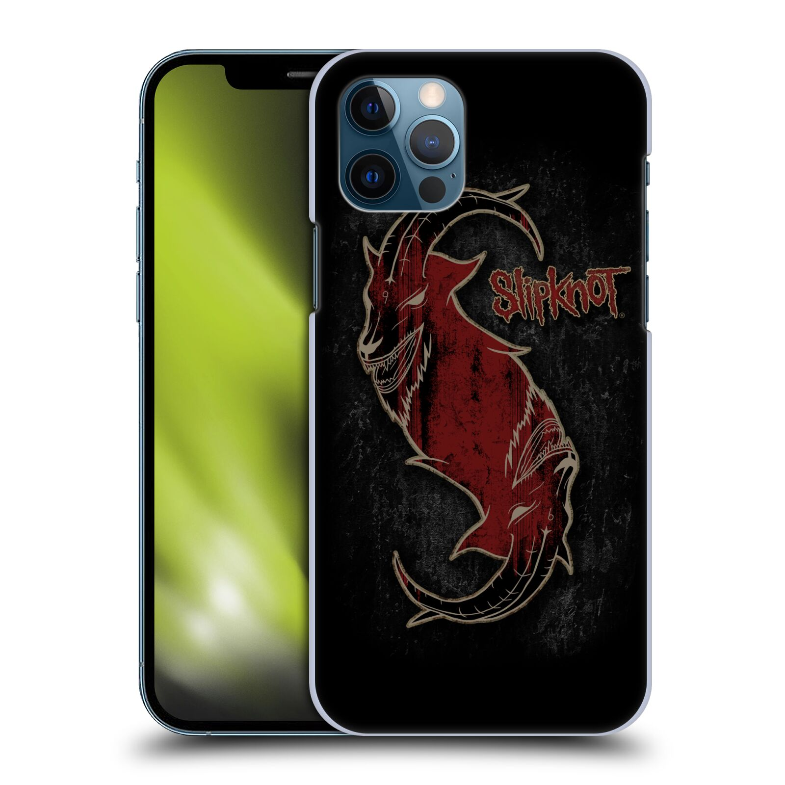 Plastové pouzdro na mobil Apple iPhone 12 / 12 Pro - Head Case - Slipknot - Rudý kozel