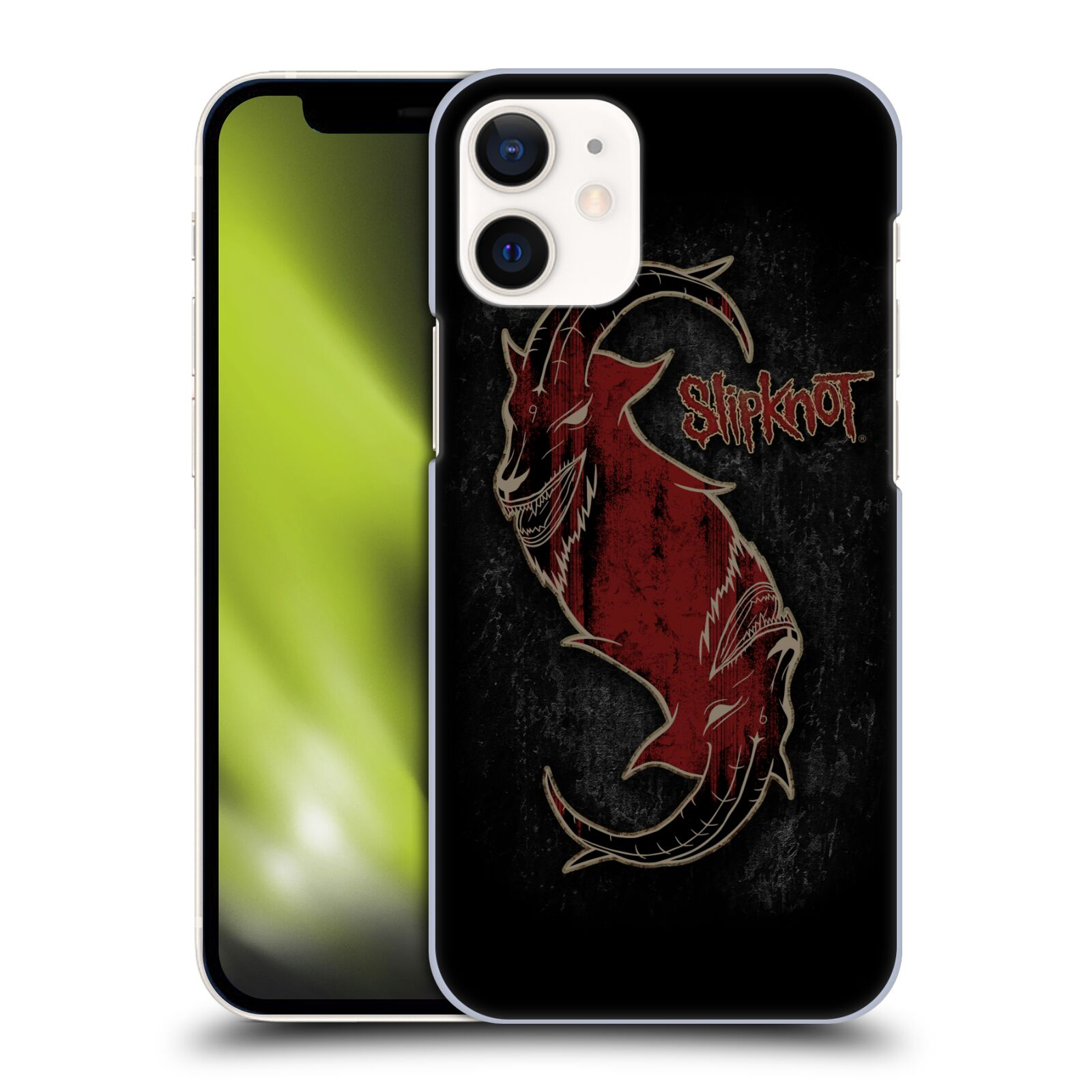 Plastové pouzdro na mobil Apple iPhone 12 Mini - Head Case - Slipknot - Rudý kozel