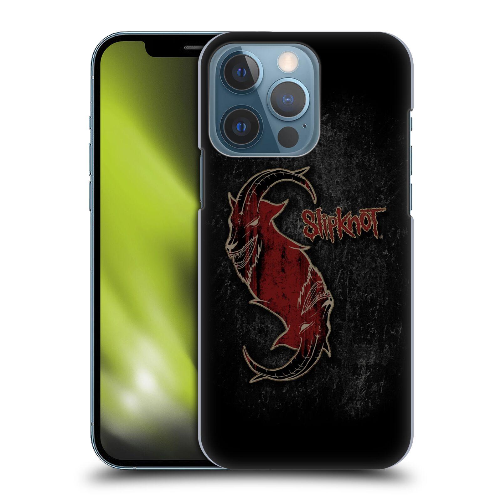 Plastové pouzdro na mobil Apple iPhone 13 Pro - Head Case - Slipknot - Rudý kozel
