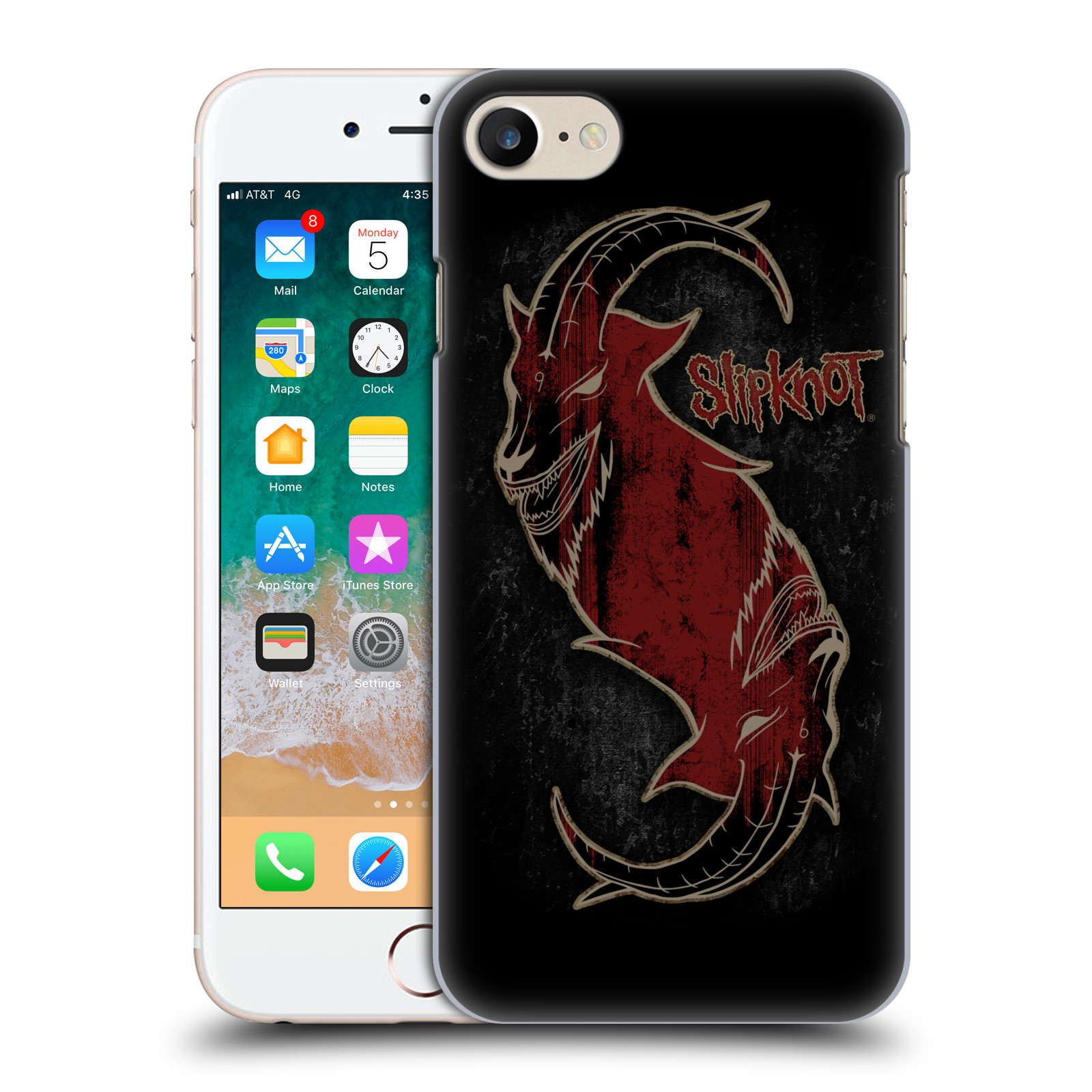 Plastové pouzdro na mobil Apple iPhone SE (2020) - Head Case - Slipknot - Rudý kozel