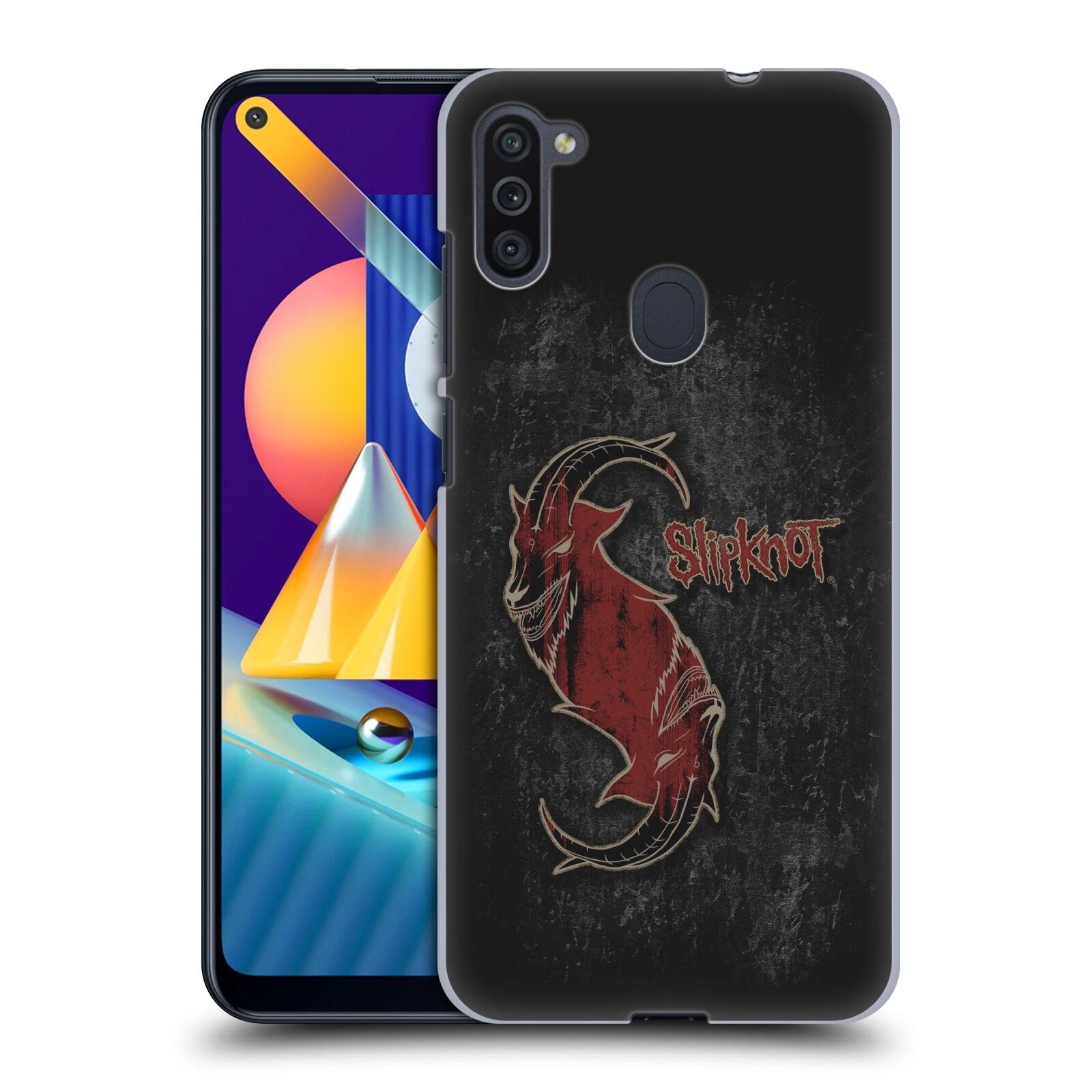 Plastové pouzdro na mobil Samsung Galaxy M11 - Head Case - Slipknot - Rudý kozel