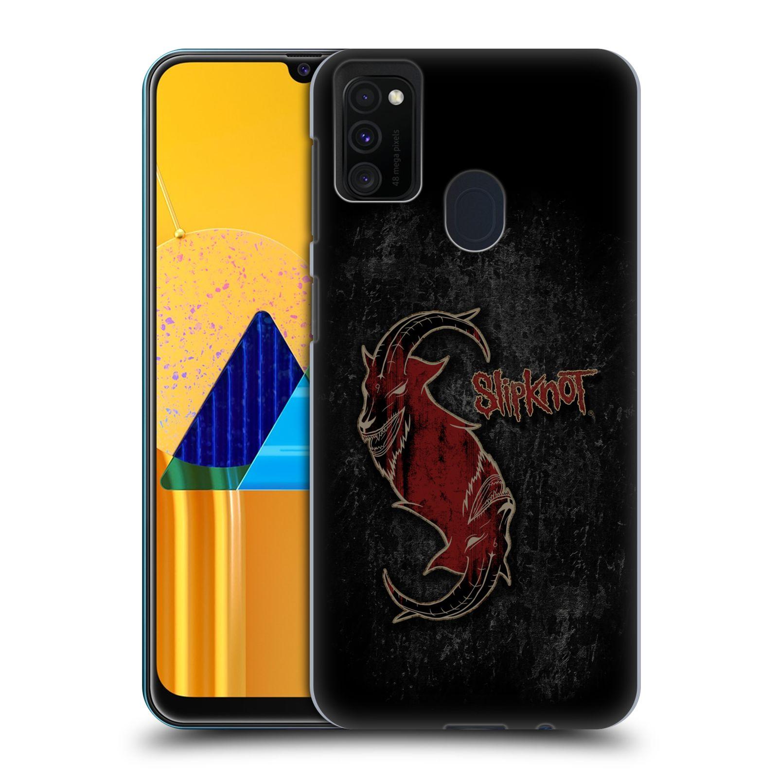 Plastové pouzdro na mobil Samsung Galaxy M21 - Head Case - Slipknot - Rudý kozel