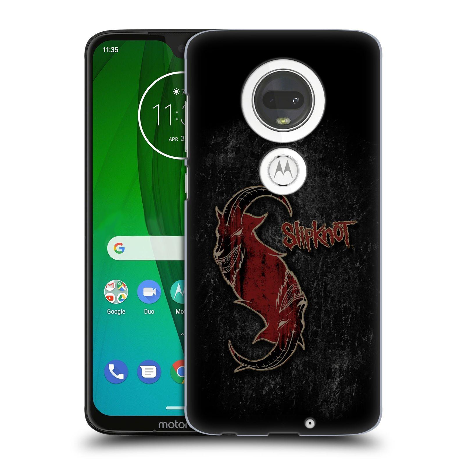 Plastové pouzdro na mobil Motorola Moto G7 - Head Case - Slipknot - Rudý kozel
