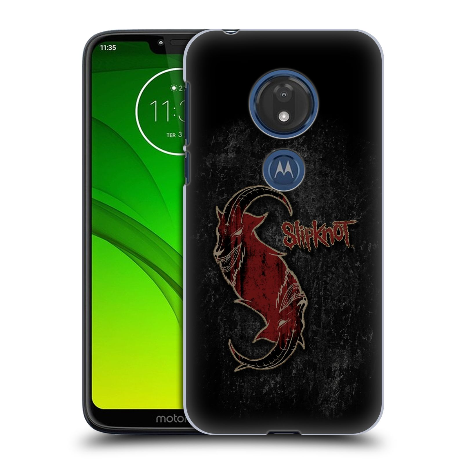 Plastové pouzdro na mobil Motorola Moto G7 Play - Head Case - Slipknot - Rudý kozel