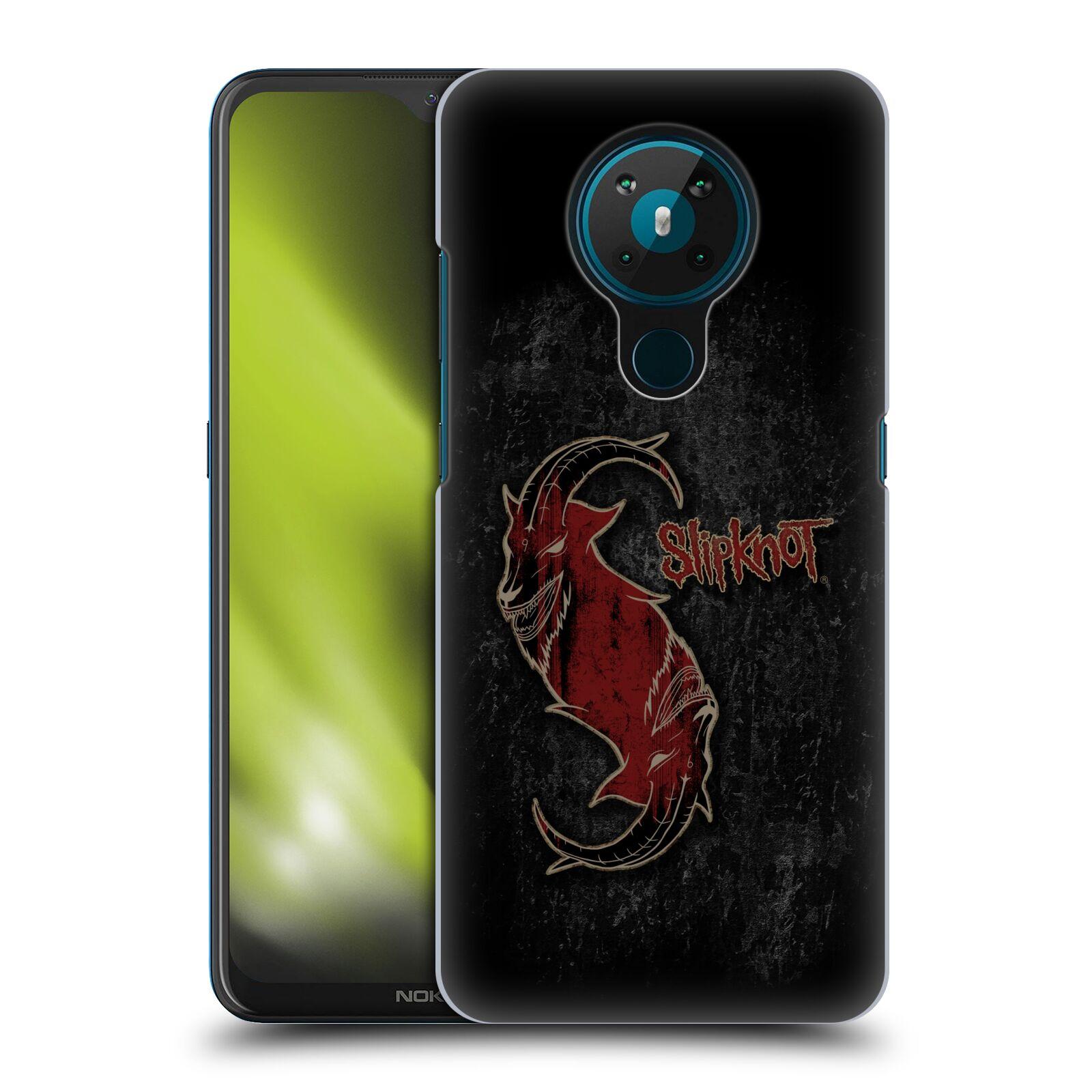 Plastové pouzdro na mobil Nokia 5.3 - Head Case - Slipknot - Rudý kozel