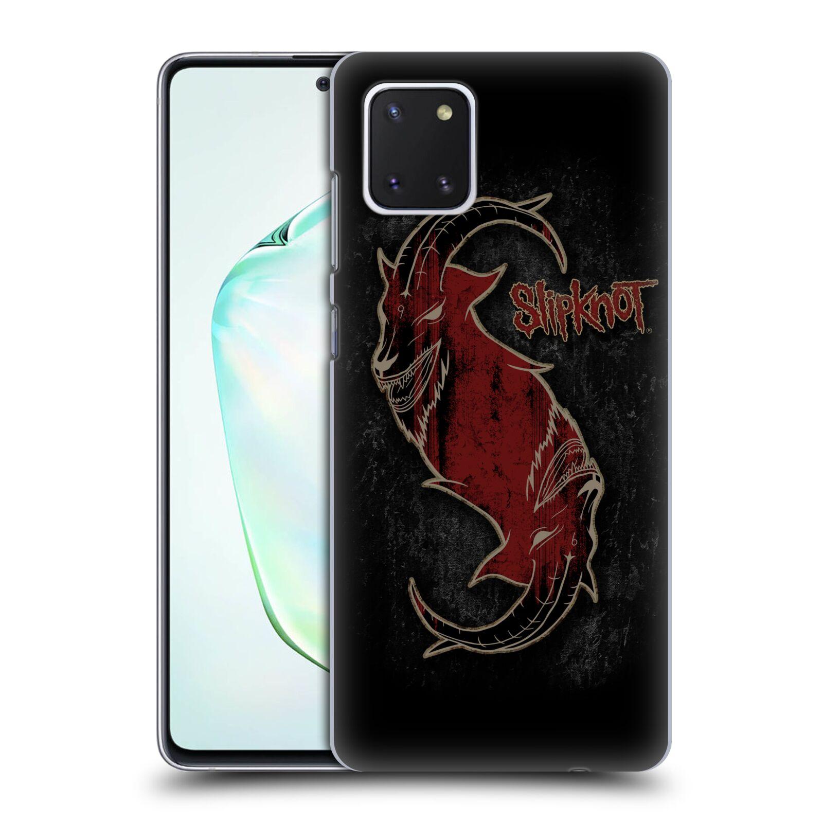 Plastové pouzdro na mobil Samsung Galaxy Note 10 Lite - Head Case - Slipknot - Rudý kozel